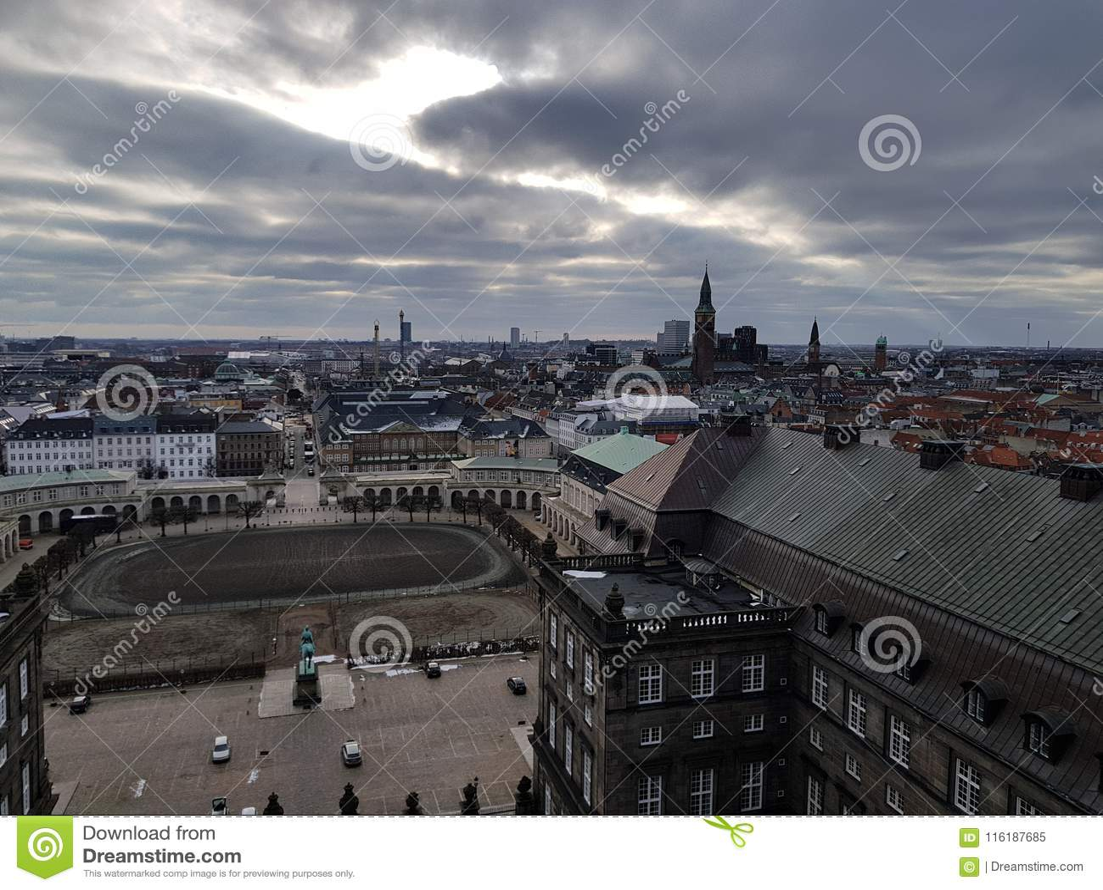 Copenhague vanaf de bovenkant