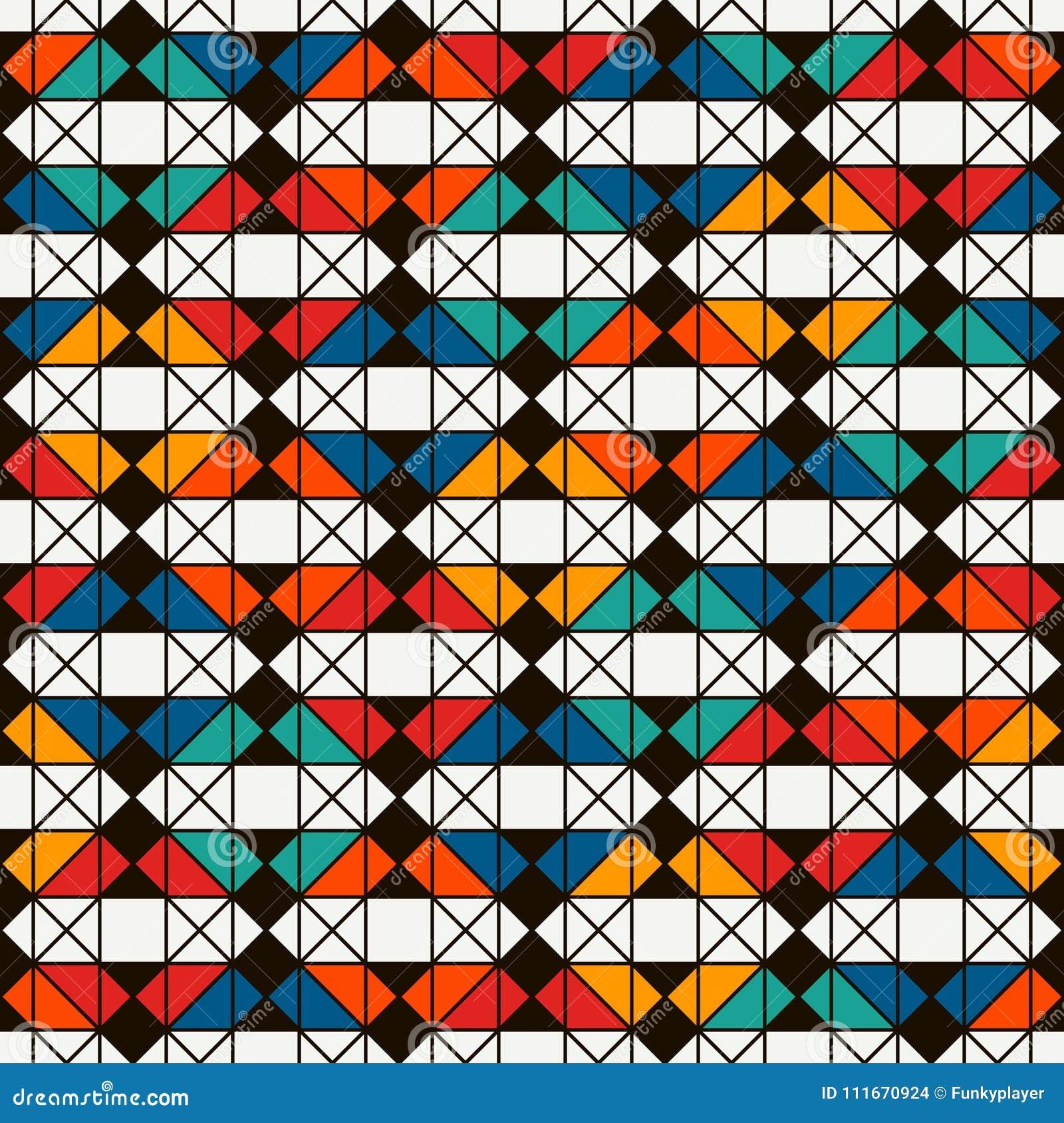 Coperta della trapunta di stile del nativo americano Stampa etnica luminosa con le forme geometriche Modello di superficie senza