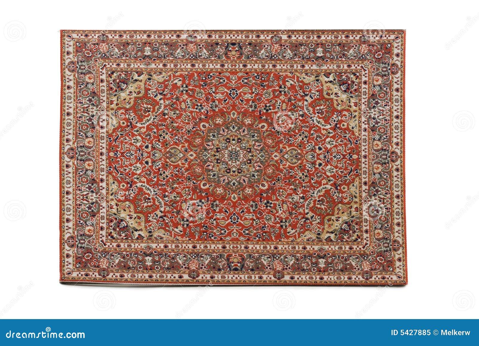 Coperta persiana isolata su priorità bassa bianca