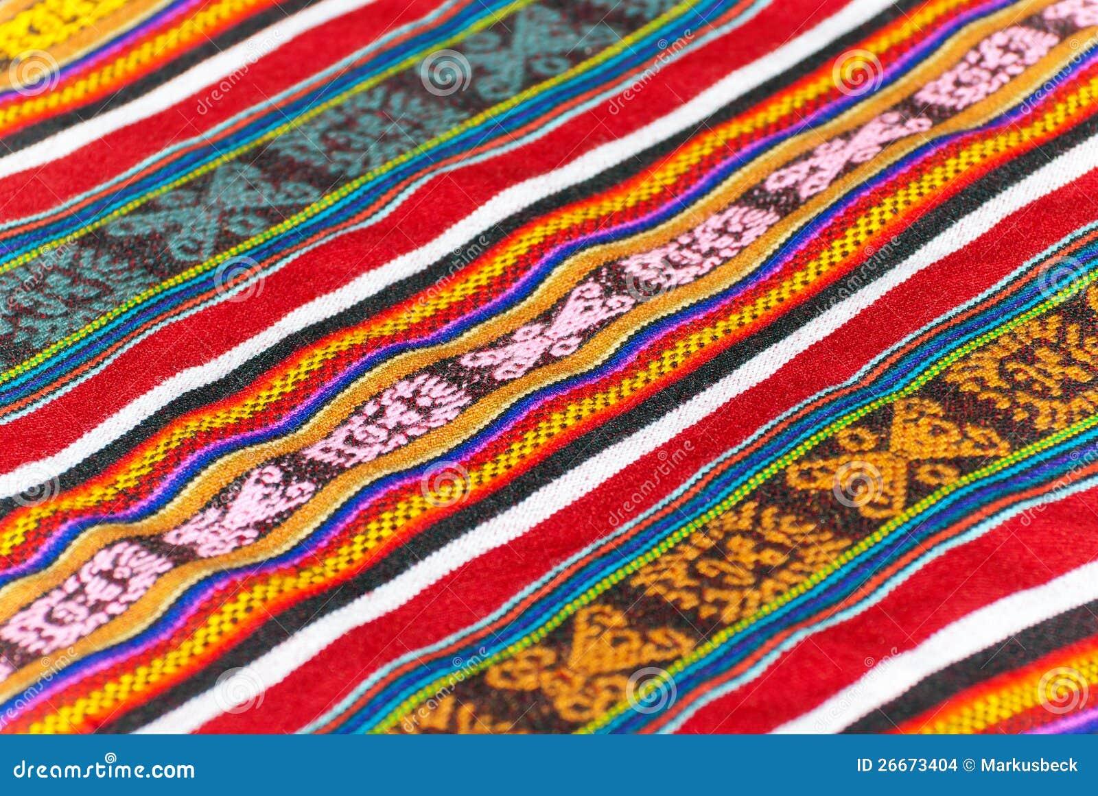 Coperta peruviana variopinta fotografia stock immagine for Disegni di coperta inclusi
