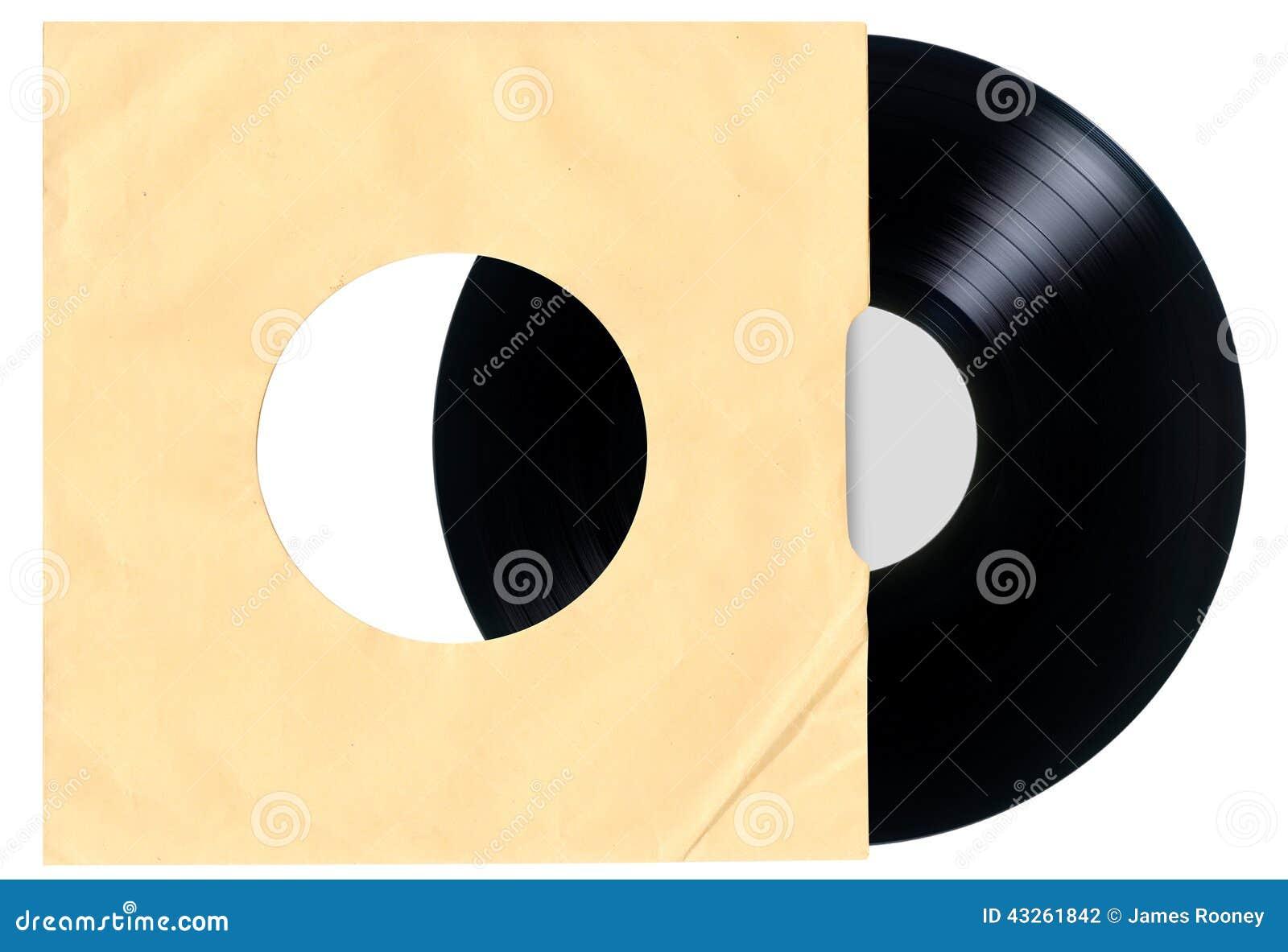 Copertina Di Disco In Bianco Del Vinile Fotografia Stock