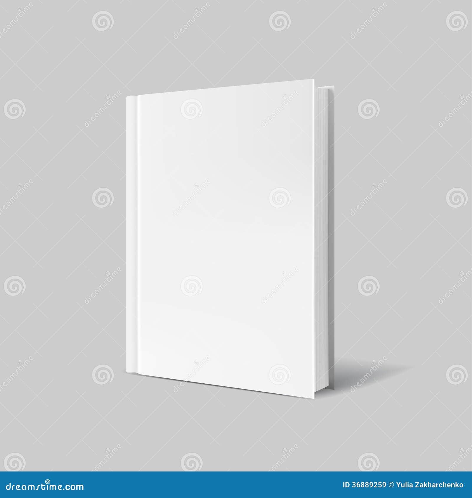 Download Copertina Di Libro In Bianco Sopra Fondo Grigio Illustrazione Vettoriale - Illustrazione di front, advertise: 36889259