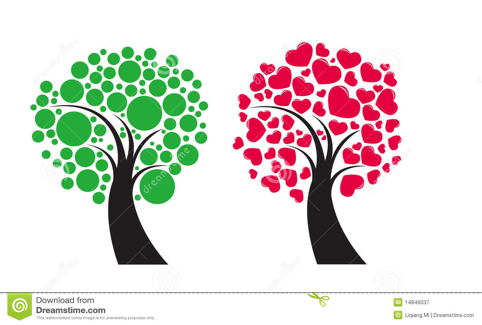 Coperto di alberi da frutto illustrazione vettoriale for Alberi da frutto prezzi