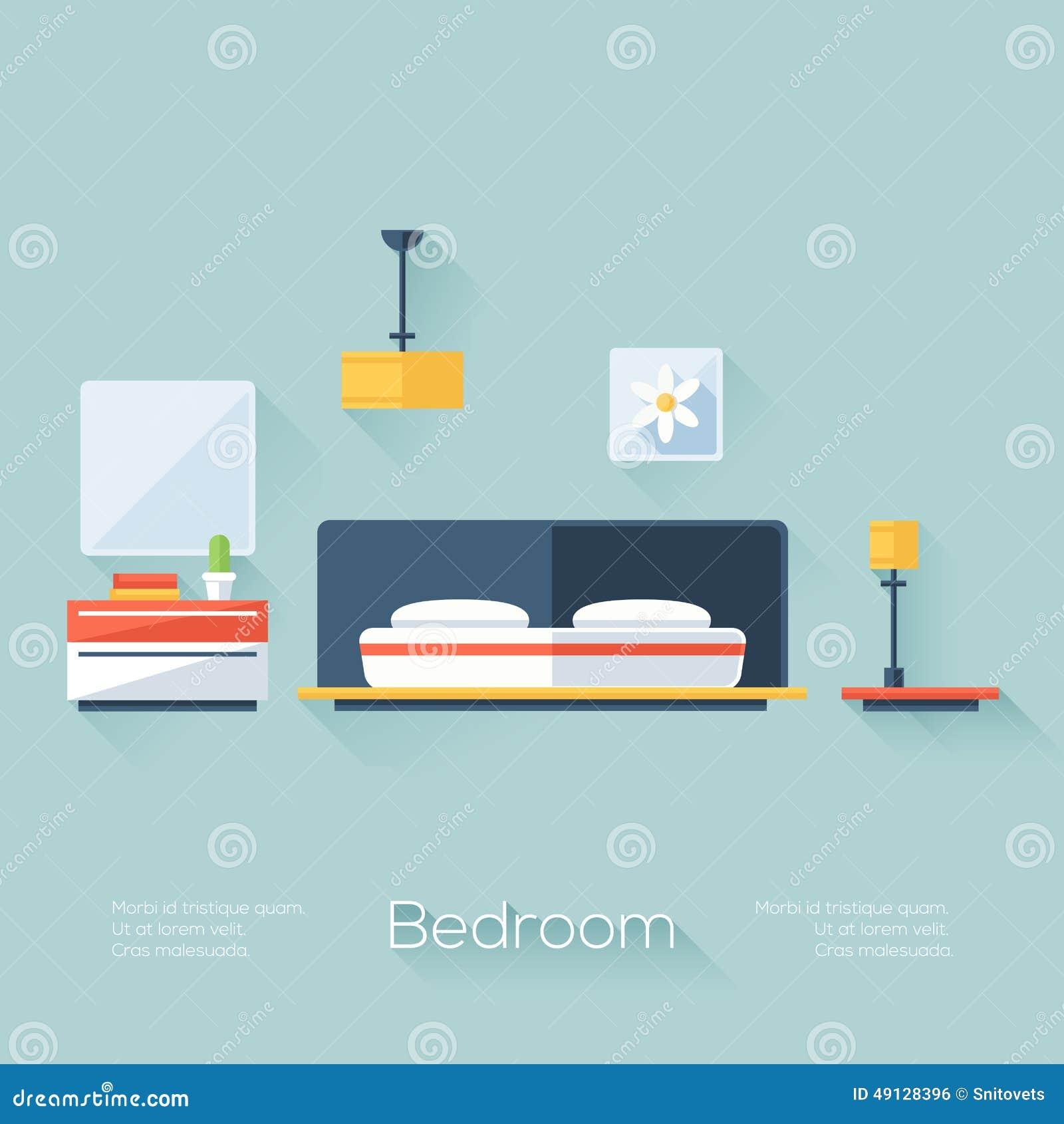 Copertura della camera da letto con la lampada il for Layout della camera familiare