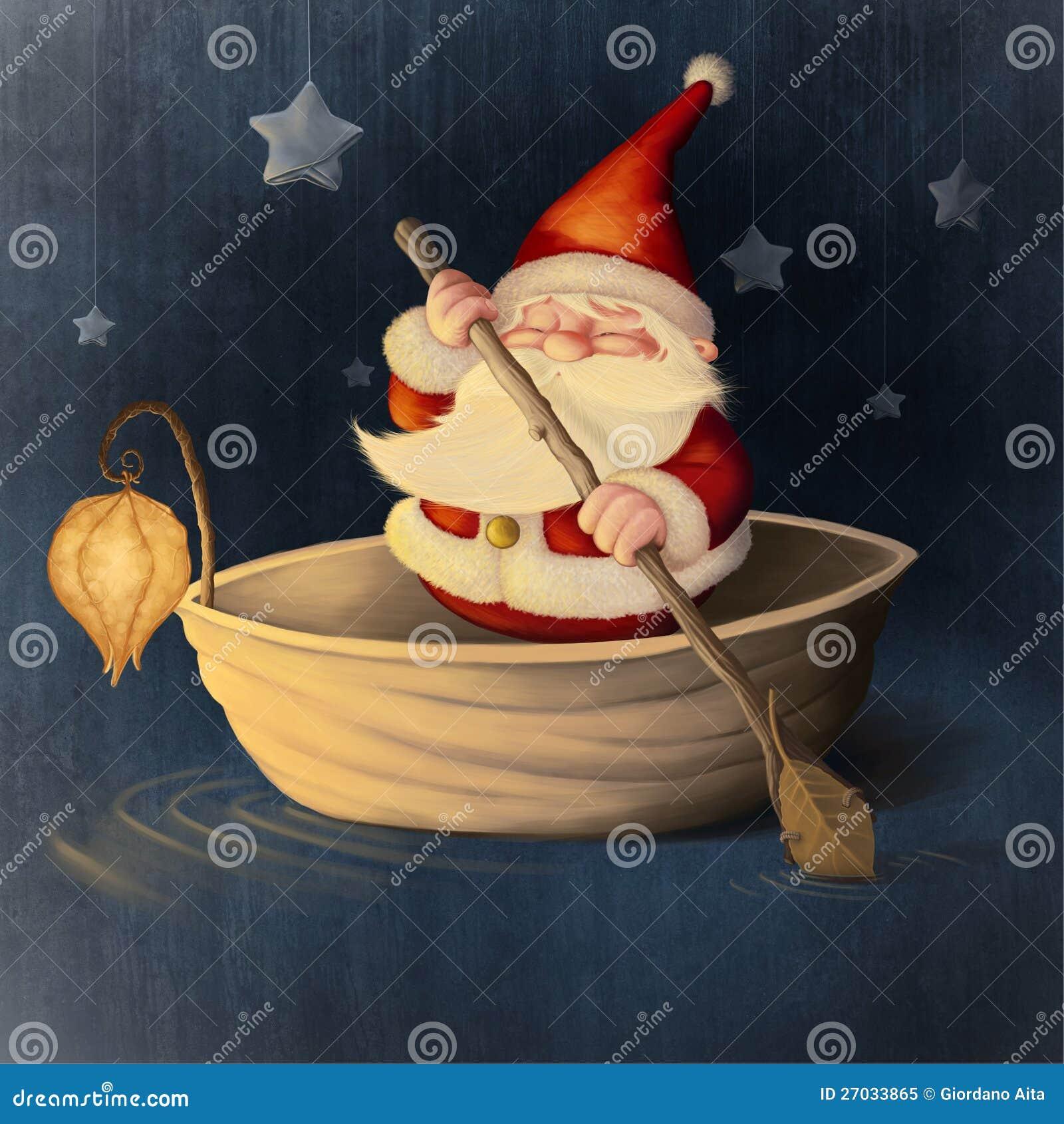 Coperture della noce e del Babbo Natale