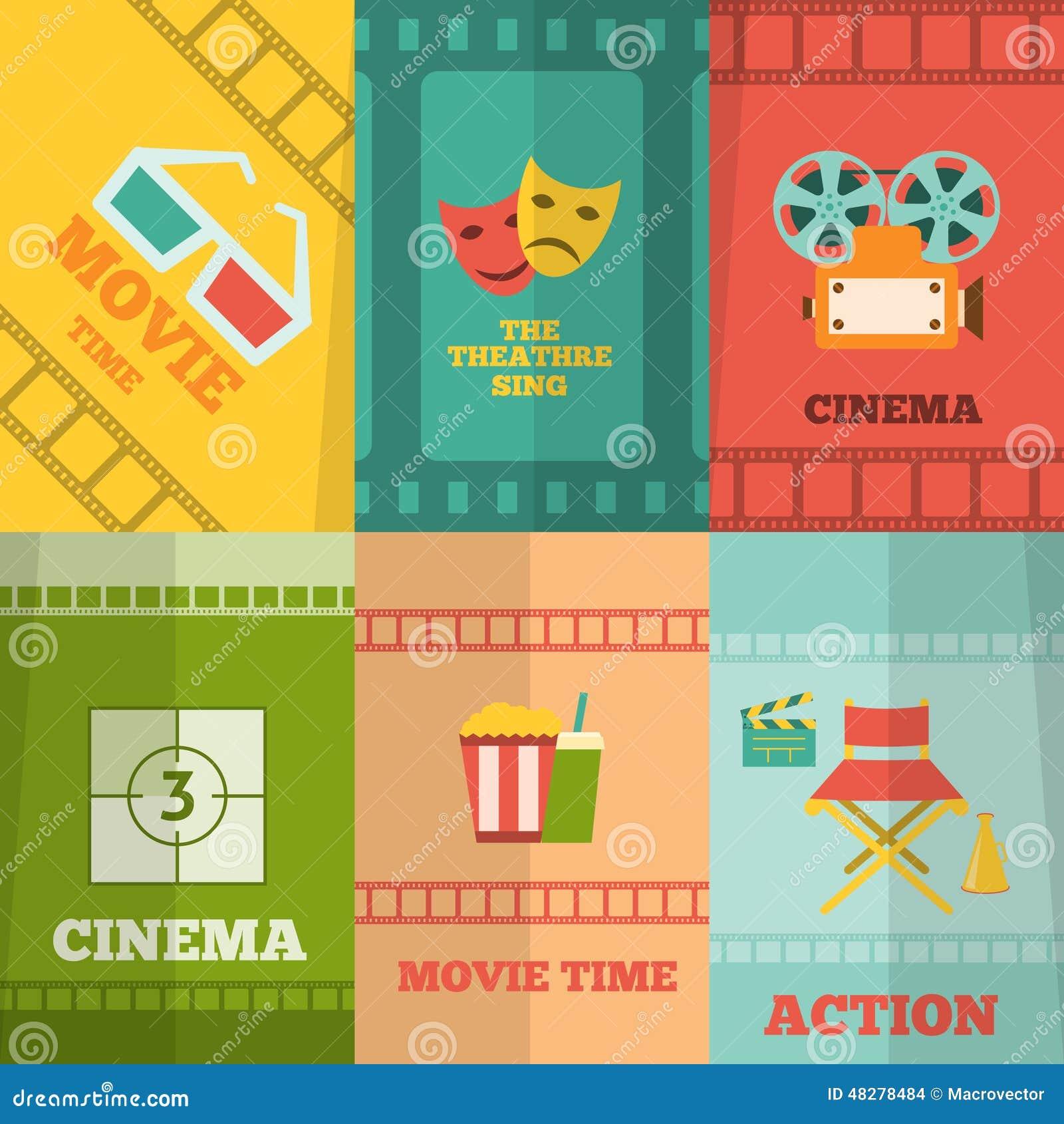 Copie d affiche de composition en icônes de cinéma