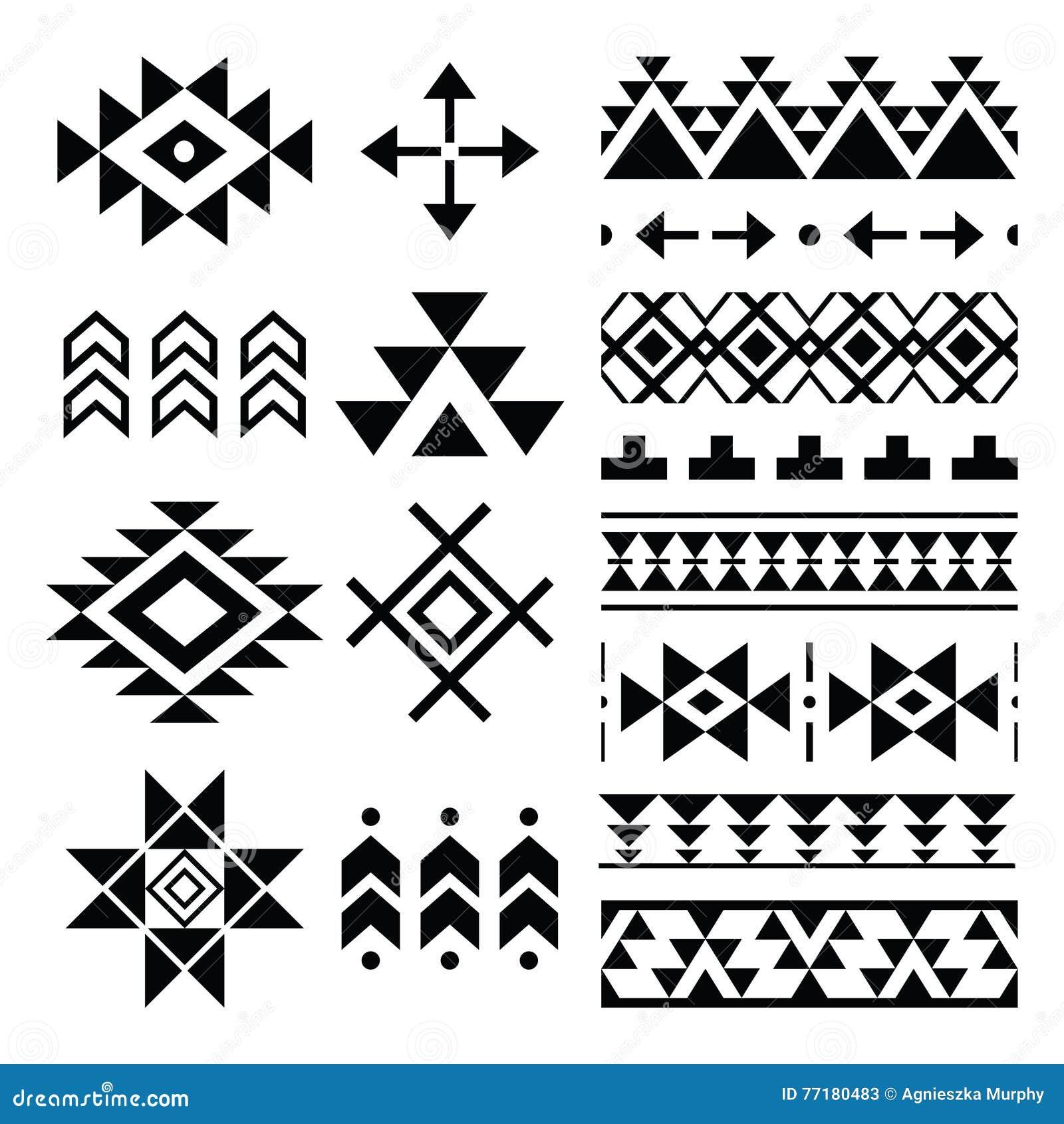 Copie de Navajo, modèle aztèque, éléments tribals de conception
