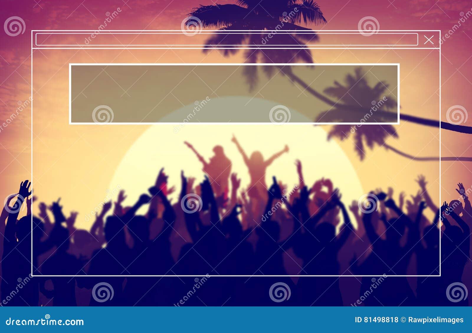 Copie el concepto del día de fiesta de las vacaciones de verano del marco del espacio