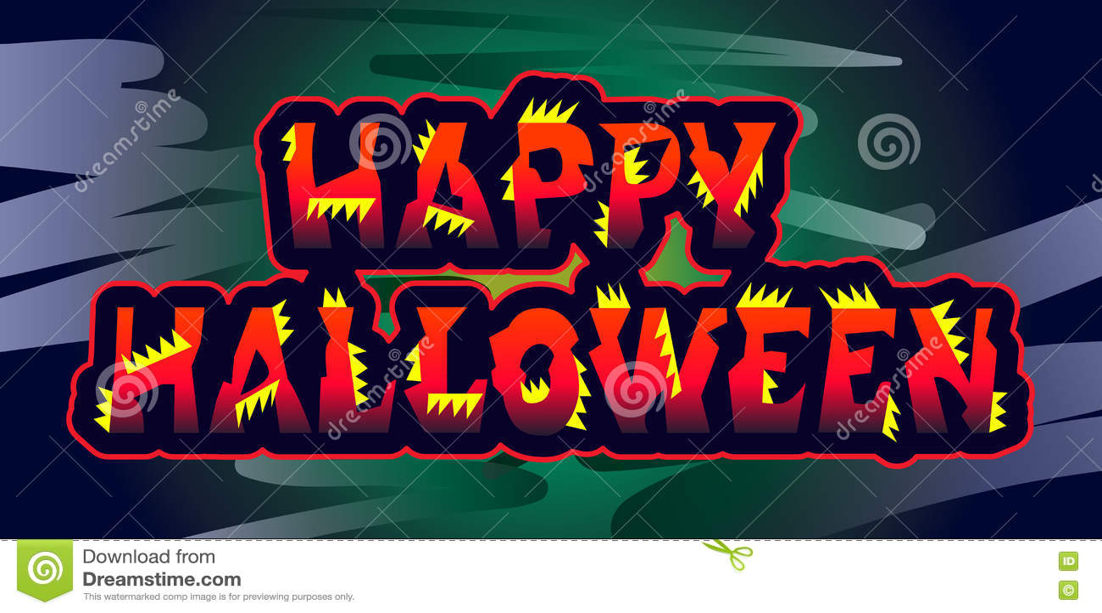 copie originale de halloween de signe de salutations heureuses de