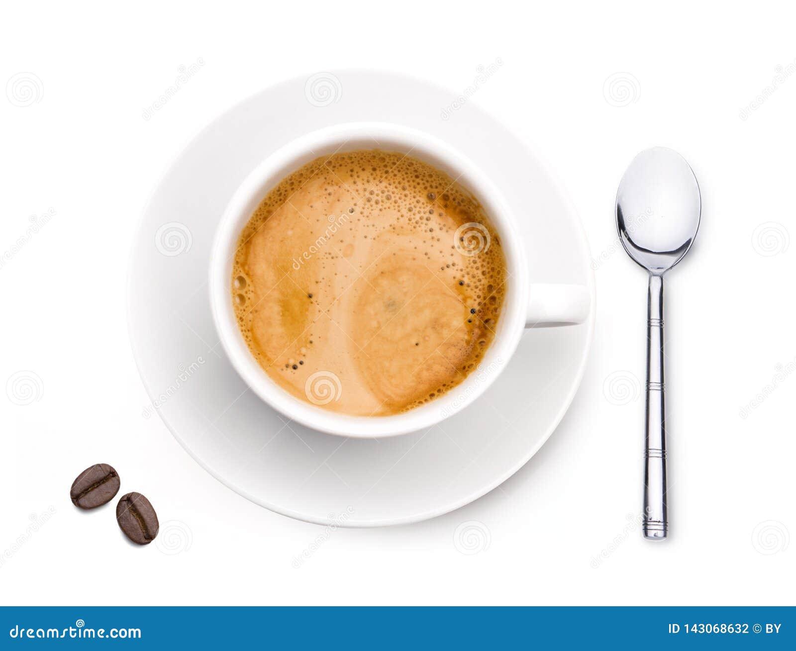 Copo de café com café Bean Isolated