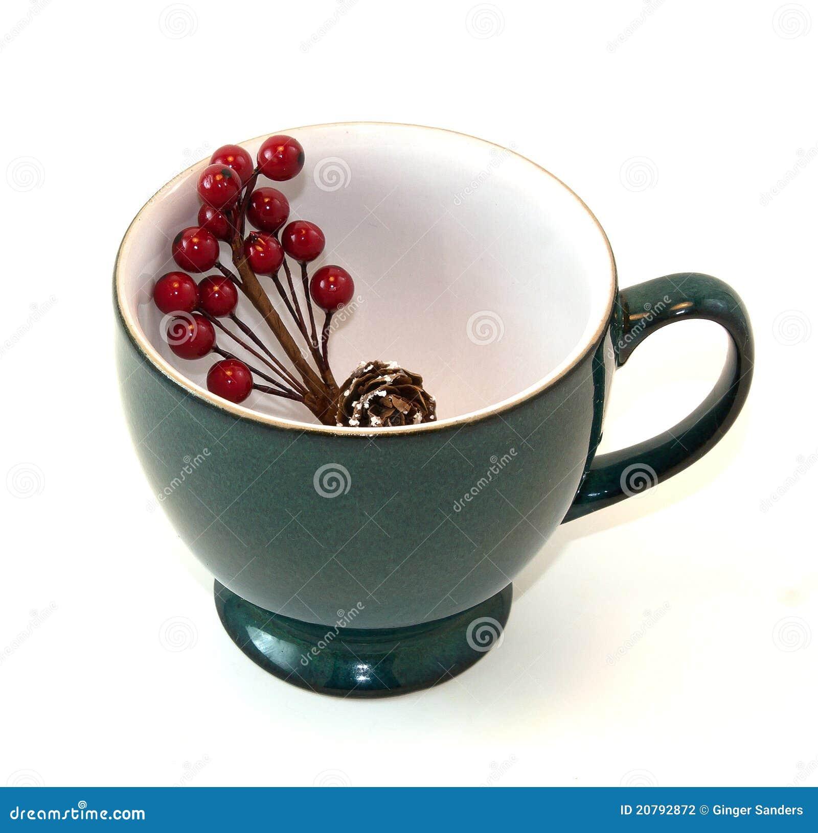 Copo de café com pulverizador floral do feriado