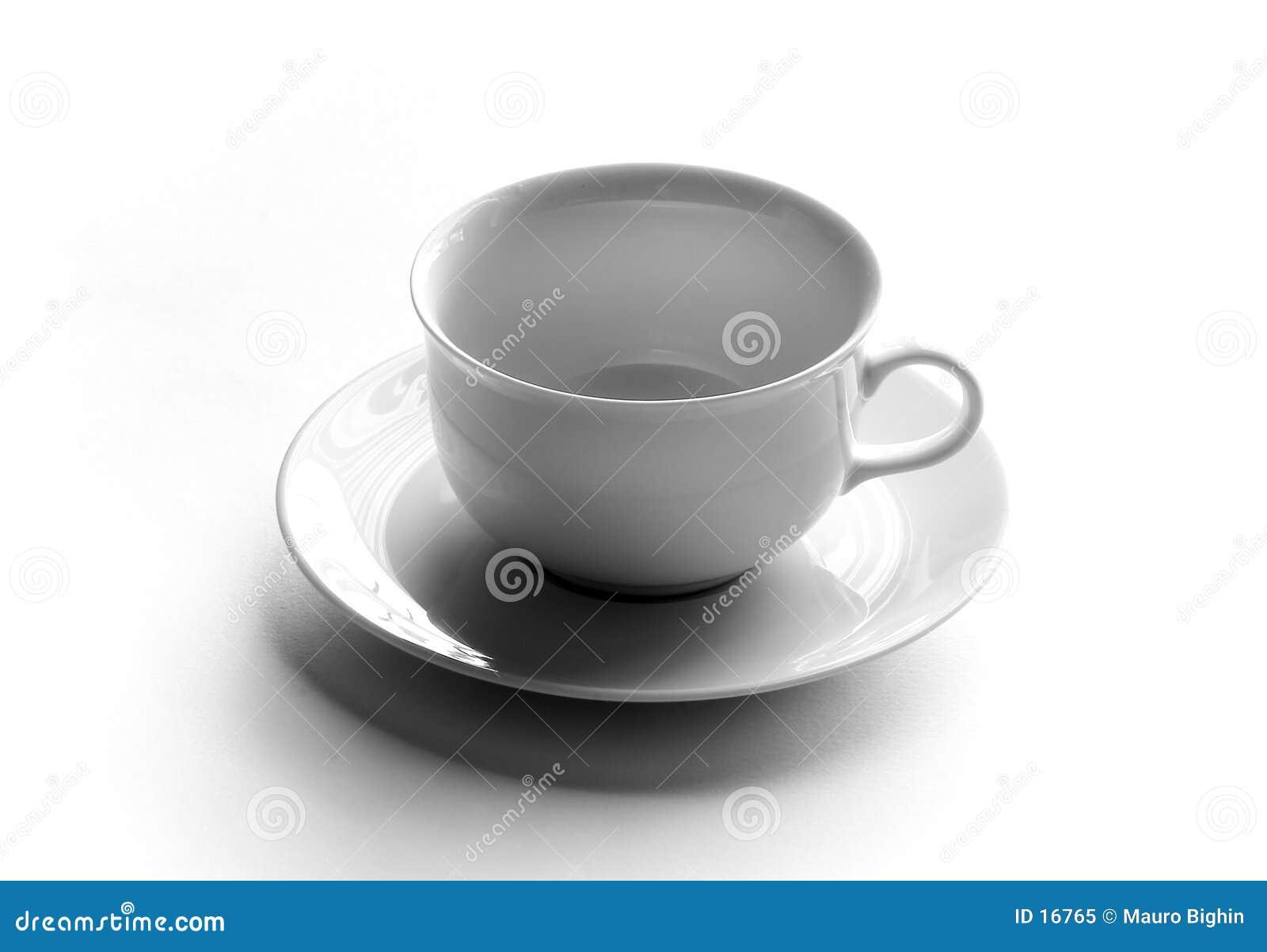 Copo de chá vazio