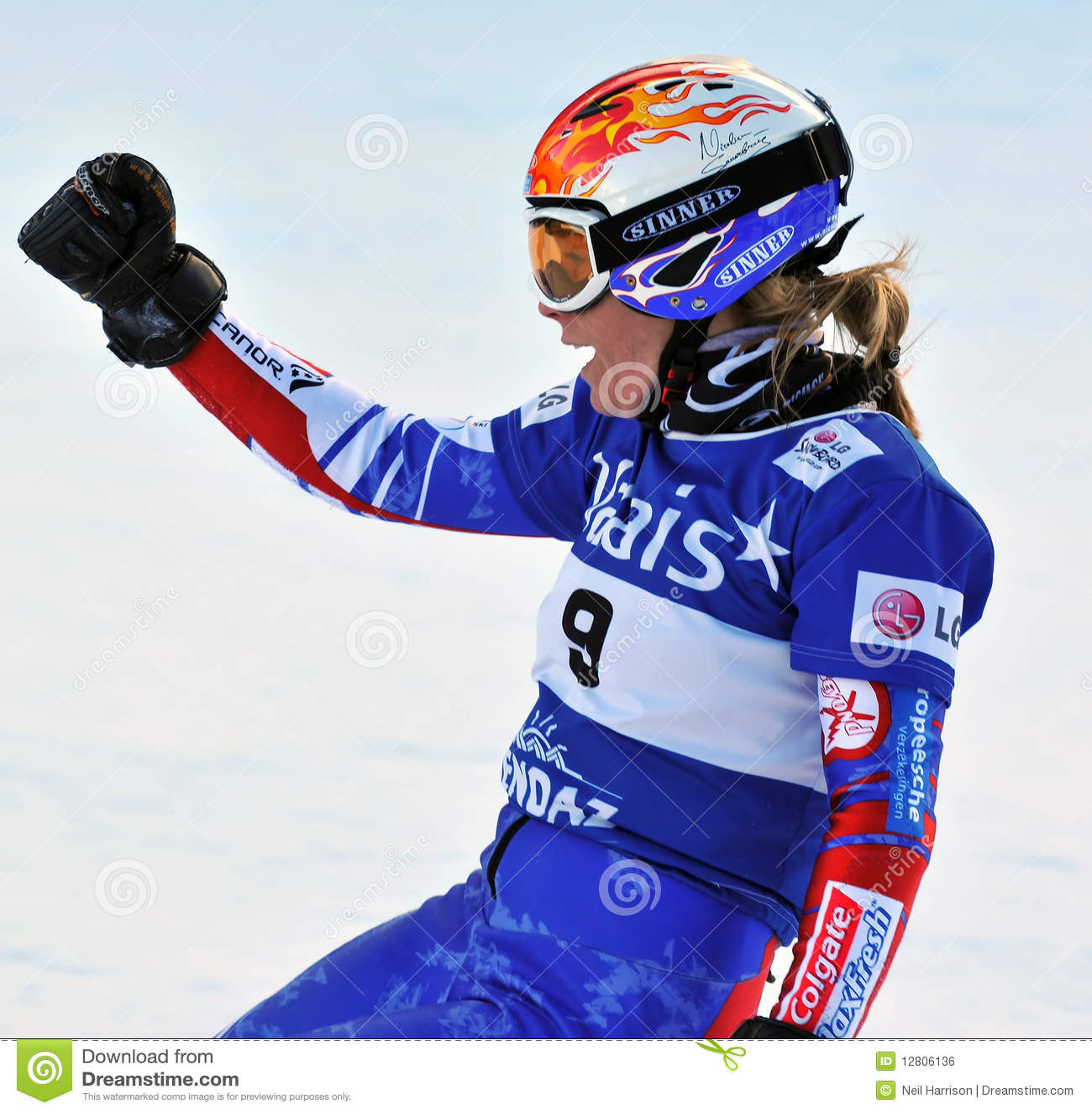 Copo de mundo 2010 da paralela do gigante do Snowboard