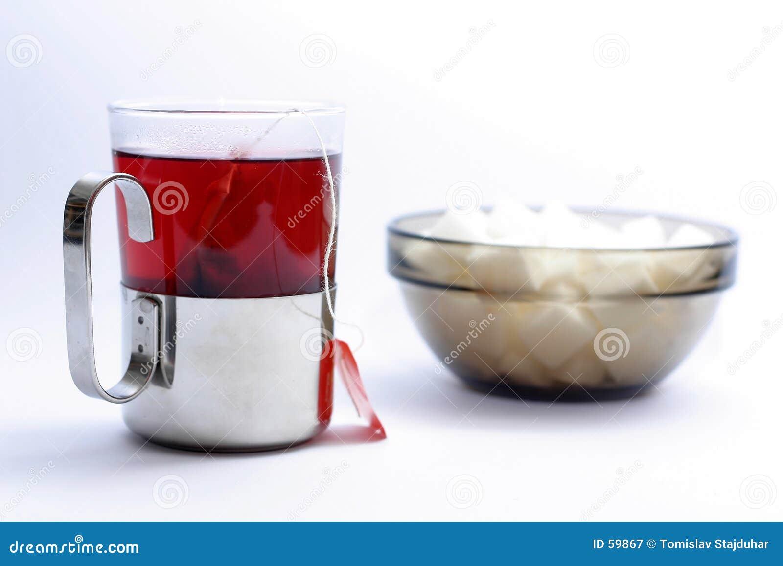 Copo do chá da fruta