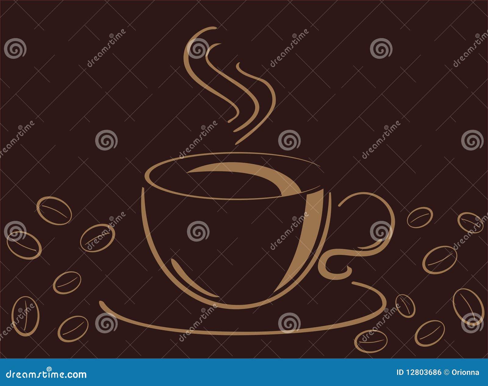 Copo do cofee, ilustração do vecor