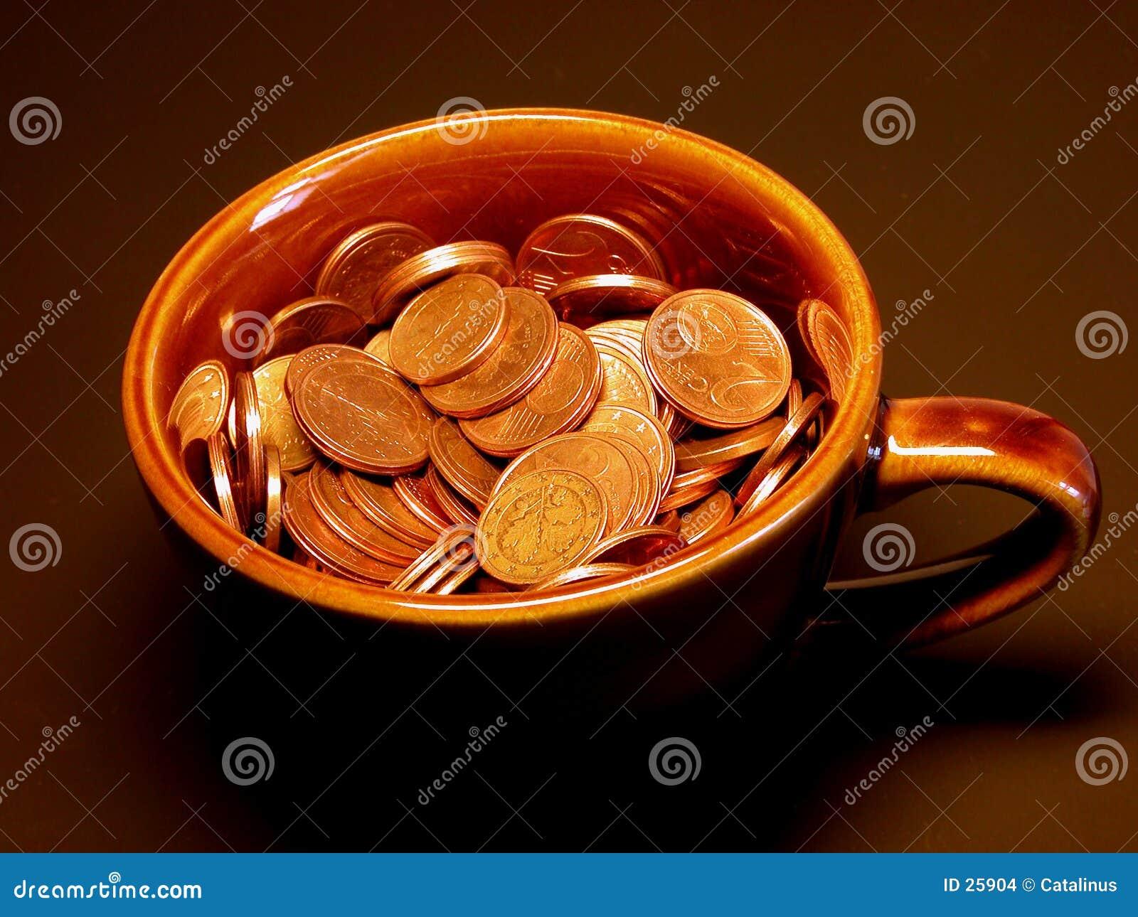 Copo do dinheiro
