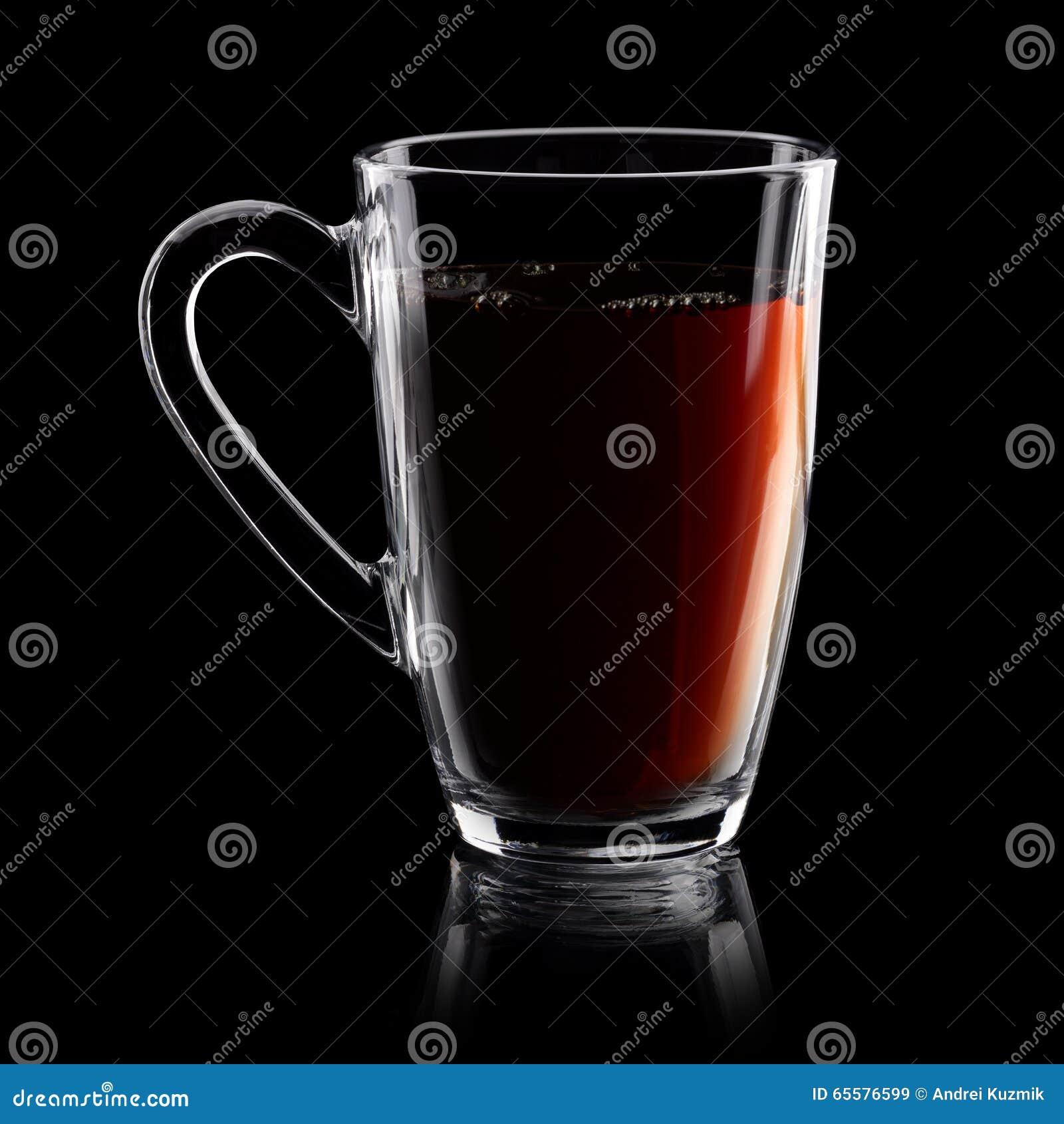 Copo transparente do chá