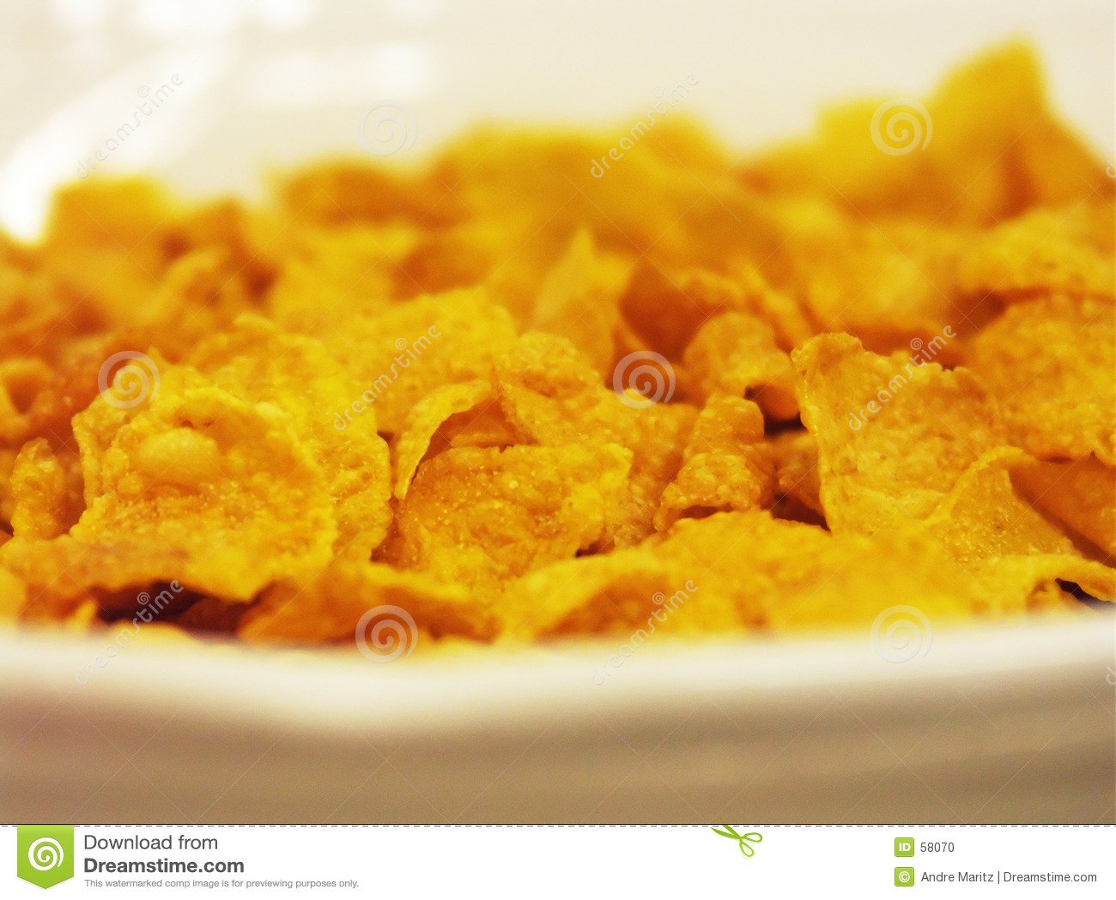 Copos de maíz para el desayuno
