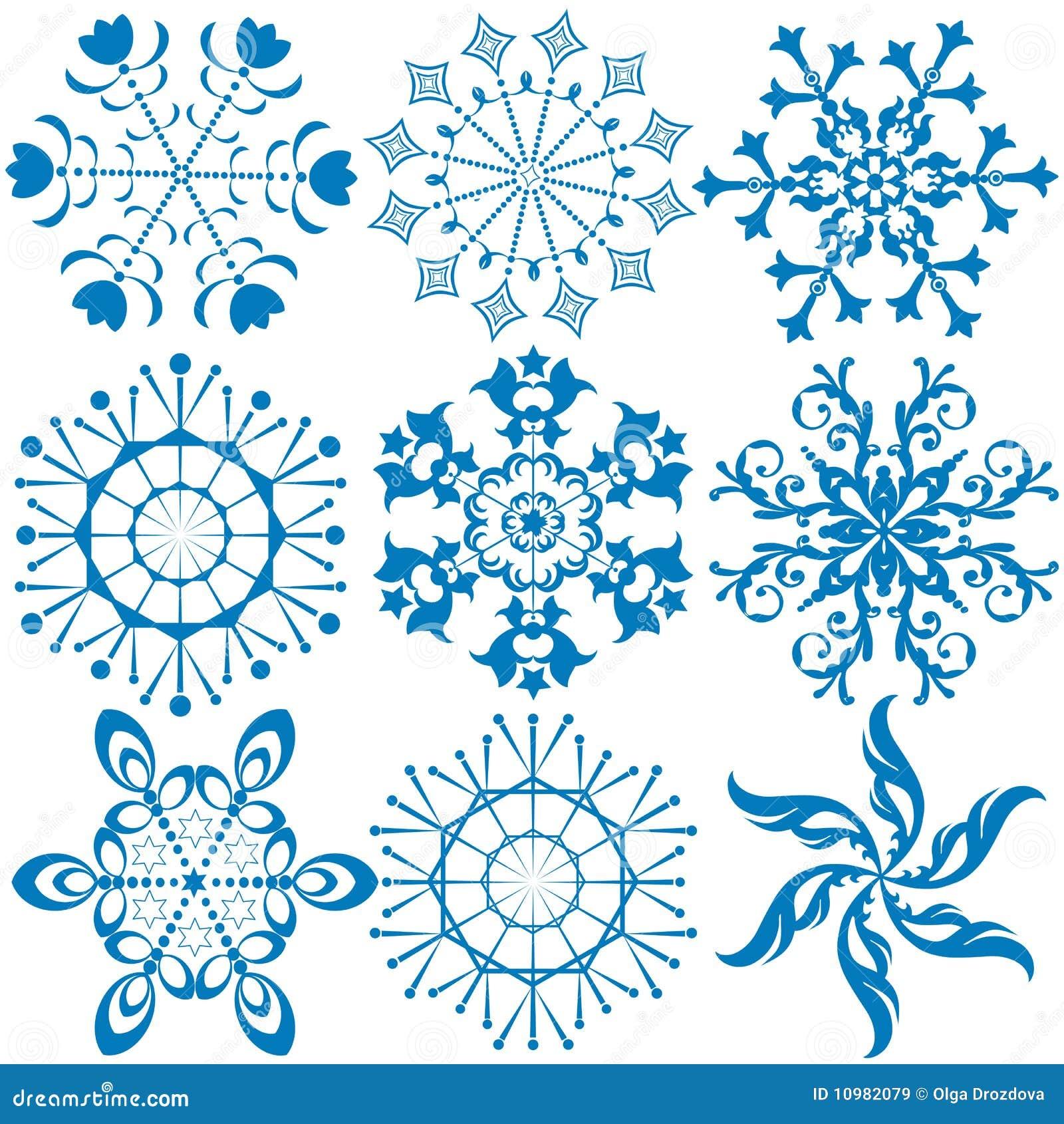 de nieve azul marino de la colecci  243 n en el fondo blanco  vectorWhite Snowflake Vector Free Download