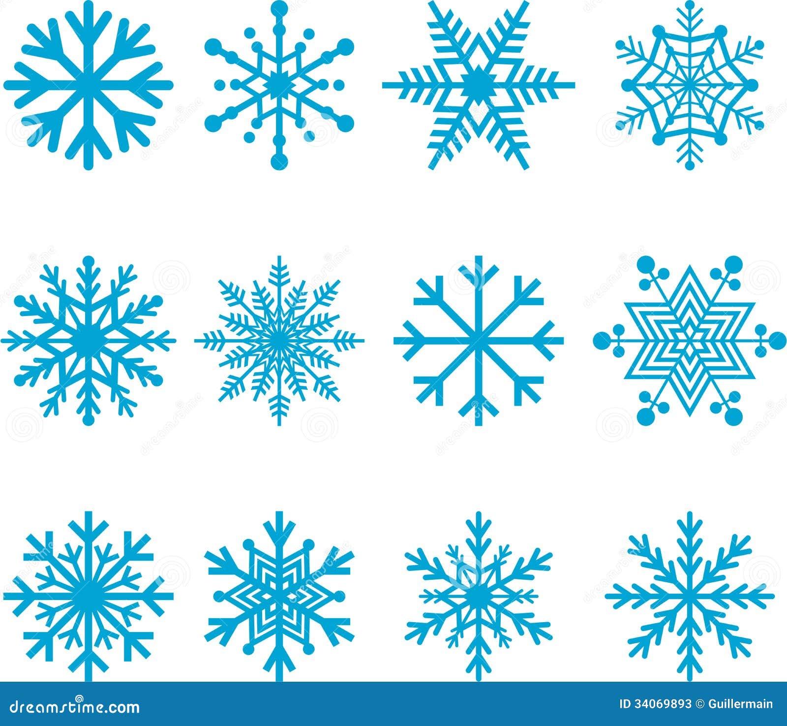 Copos de nieve azules fotos de archivo imagen 34069893 for Estrella de nieve
