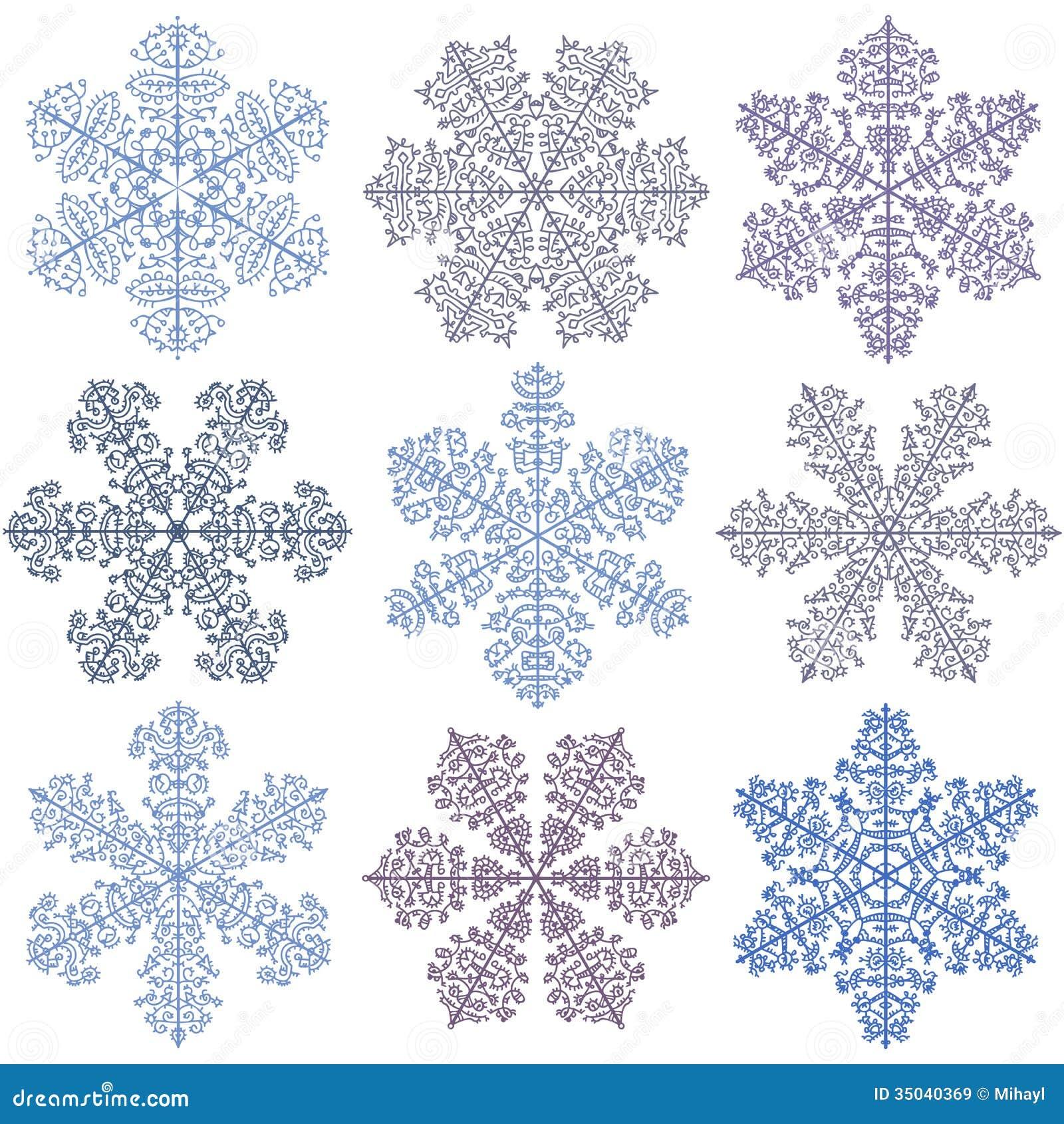 Copos de nieve azules en un fondo blanco ilustraci n del for Blanco nieve
