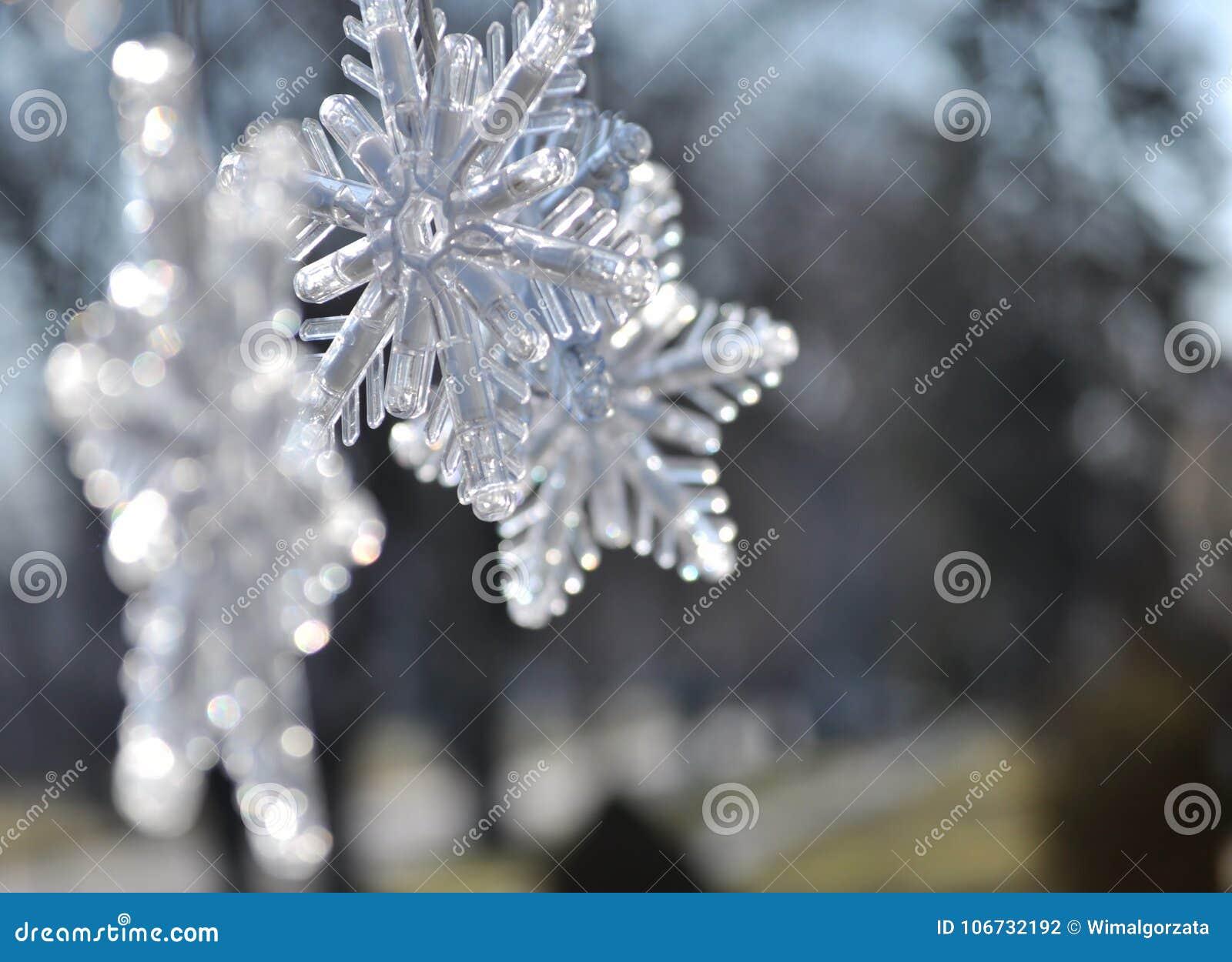 Copos De Nieve Ciérrese Para Arriba De La Decoración De La