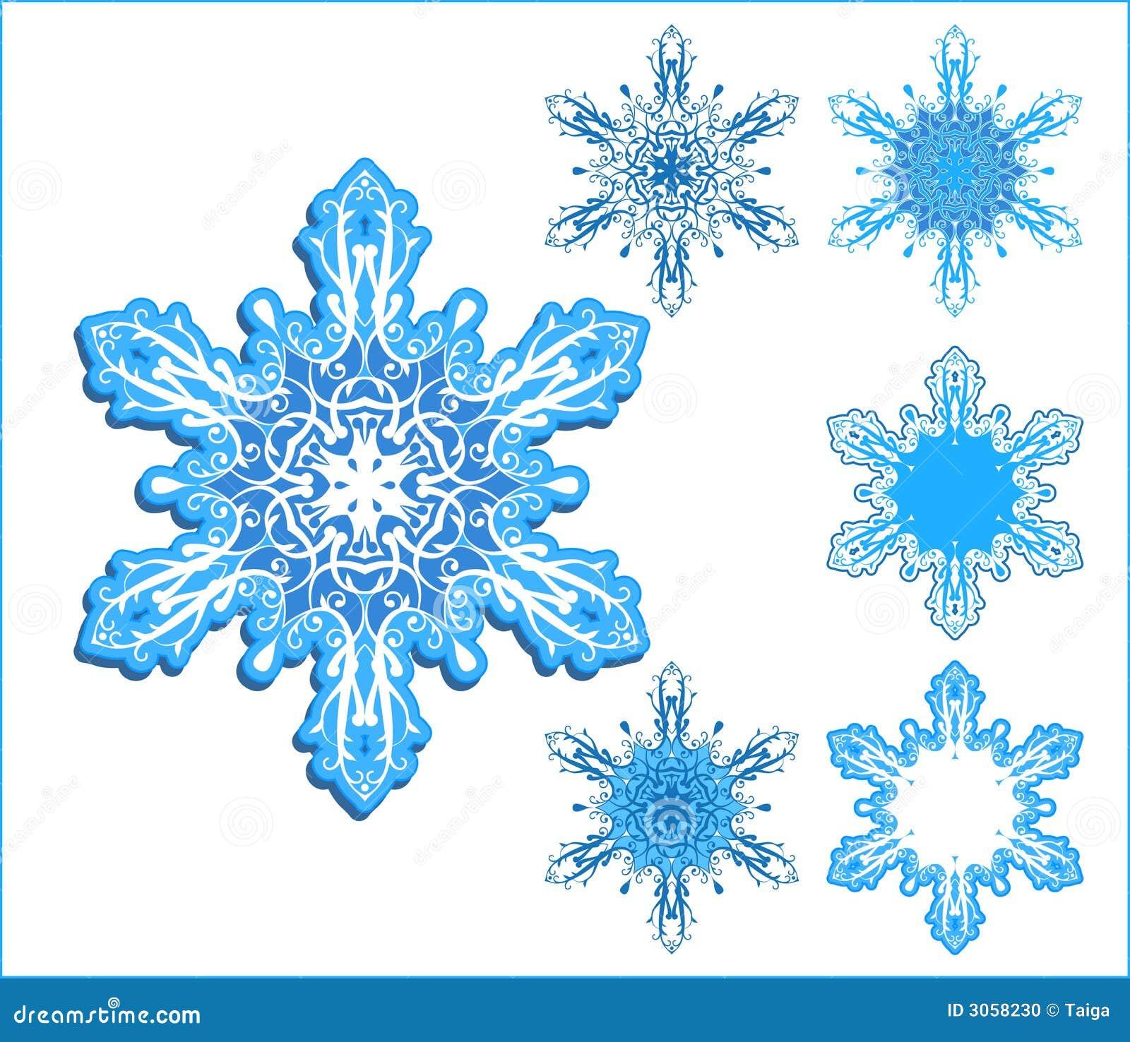 Copos de nieve del vector