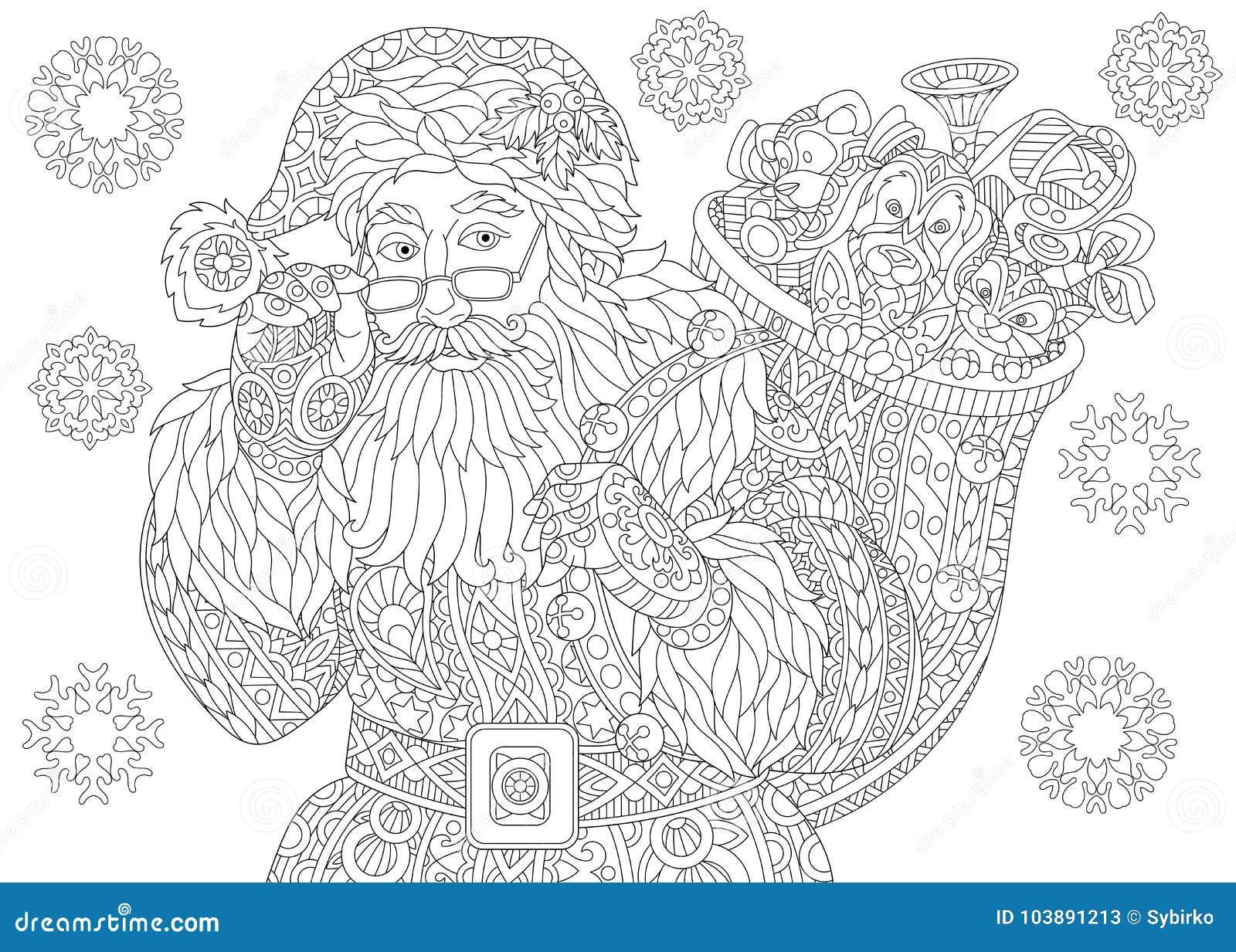 Copos De Nieve Del Vintage De Santa Claus Y De La Navidad ...