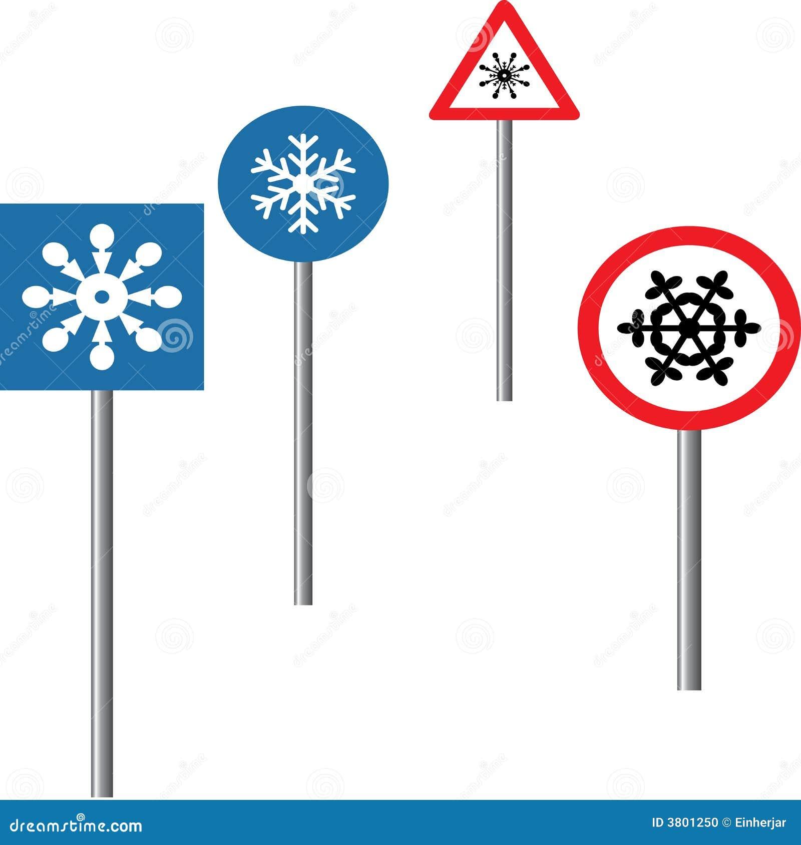 Copos de nieve en tráfico