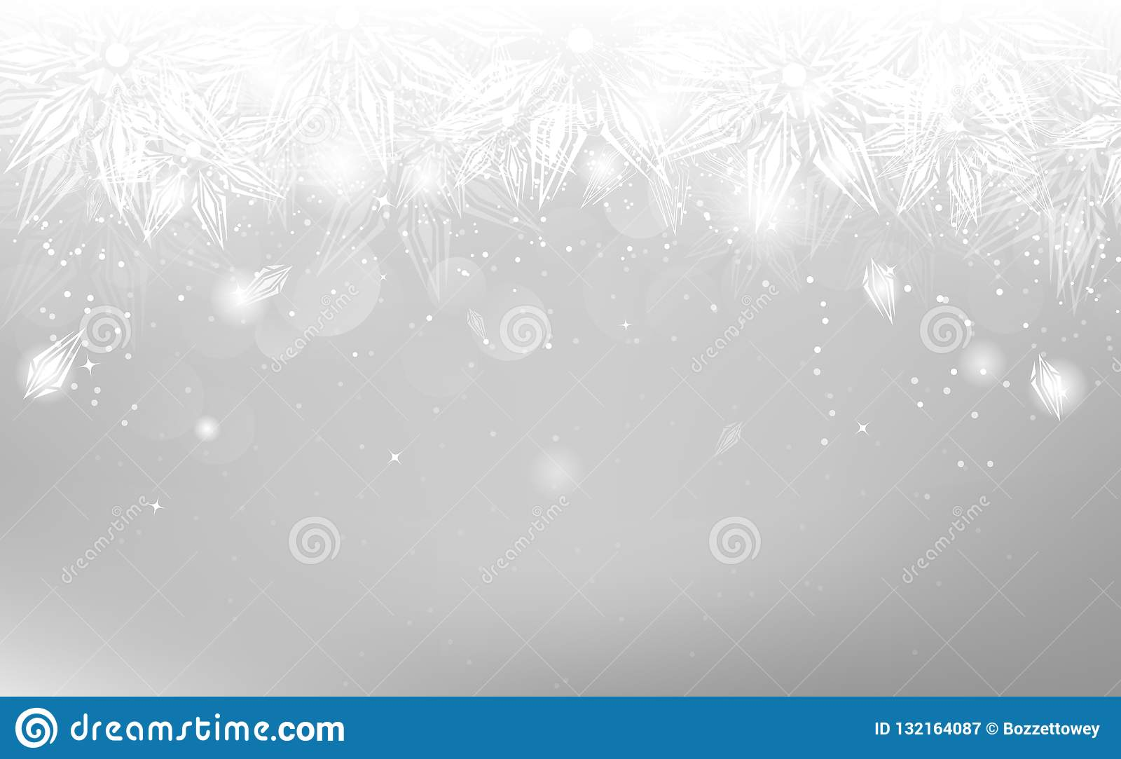 Copos de nieve de plata, vacaciones de invierno de la Navidad, ornamento elegante, a