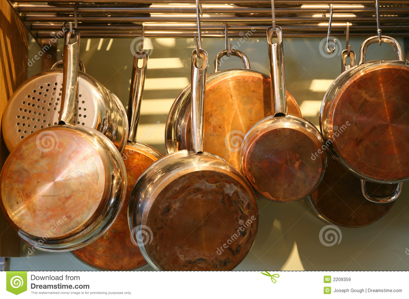 Copper Bottomed Pots And Pans Stock Image Image Of
