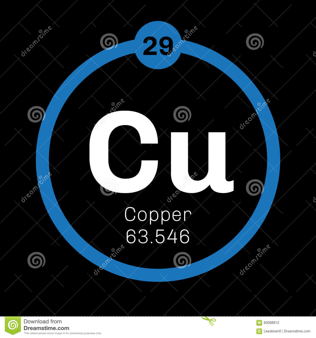 Copper chemical element stock vector illustration of element 83098912 download copper chemical element stock vector illustration of element 83098912 urtaz Image collections