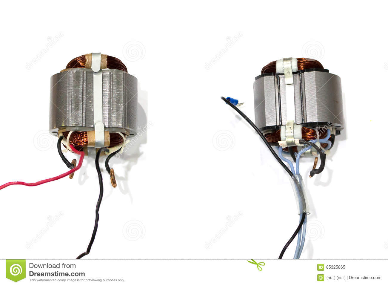 Copper coil of electrical motor
