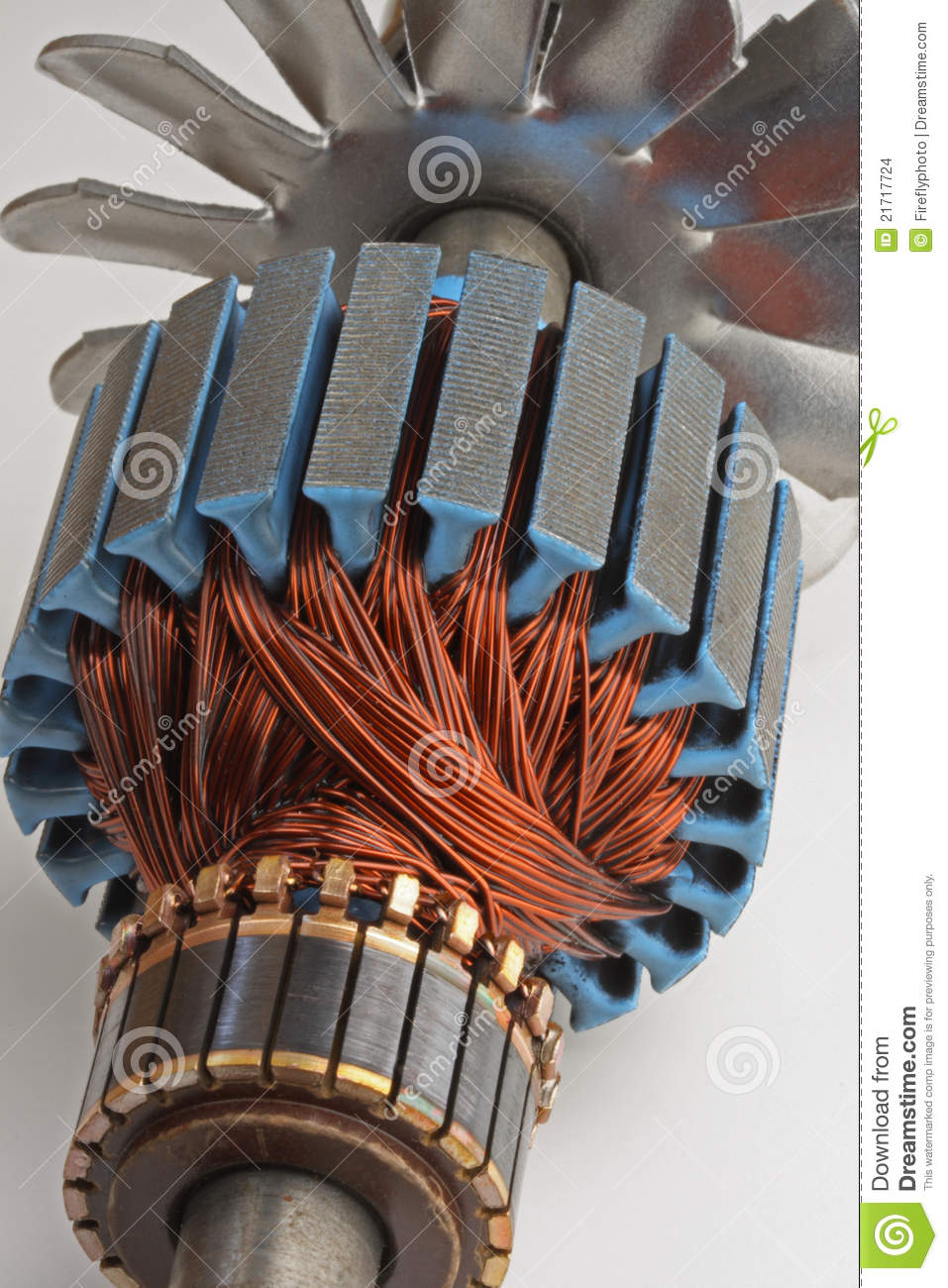 Phrase copper strip motor winding that's