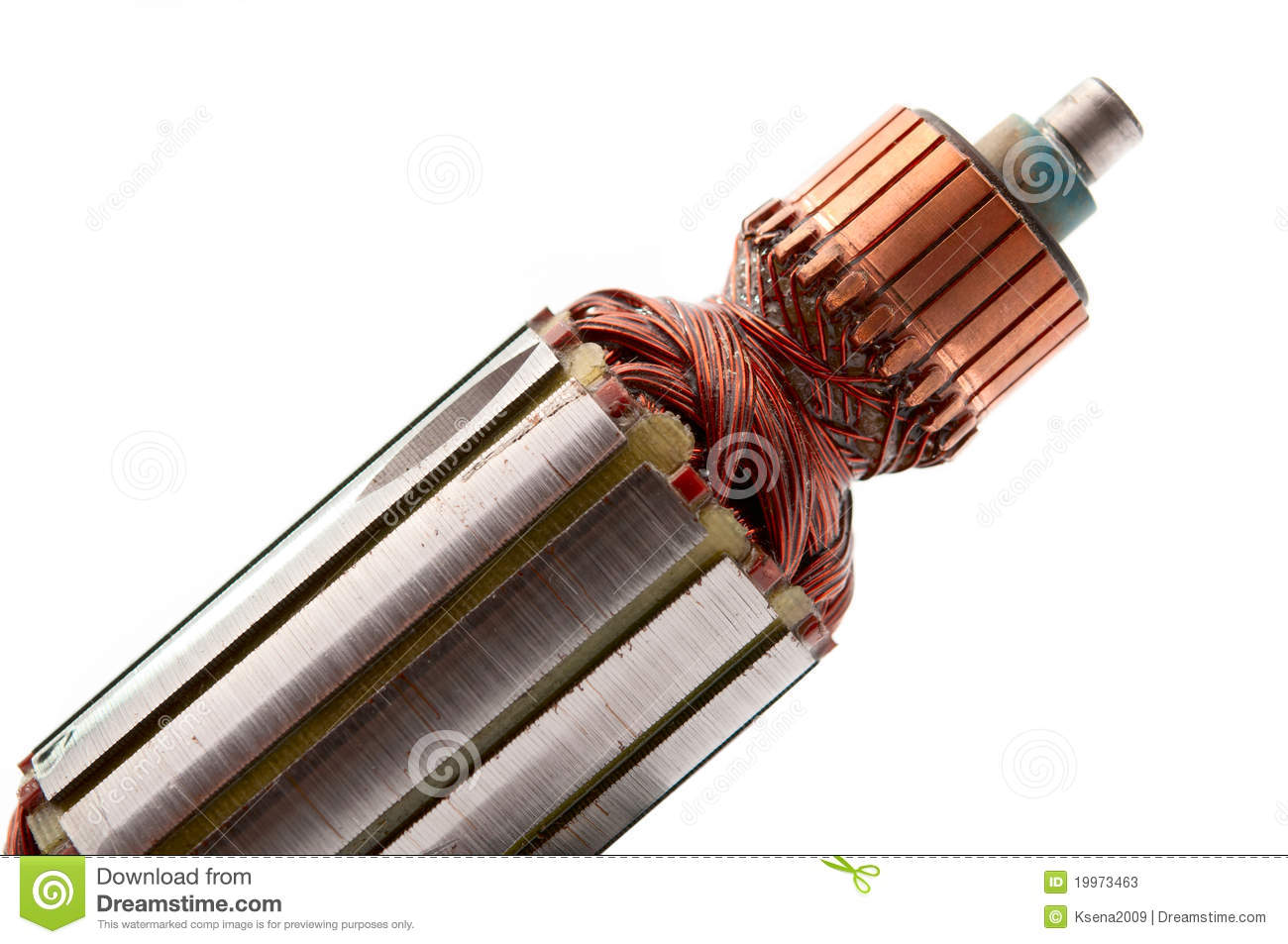 Copper Coils inside Electric Motor