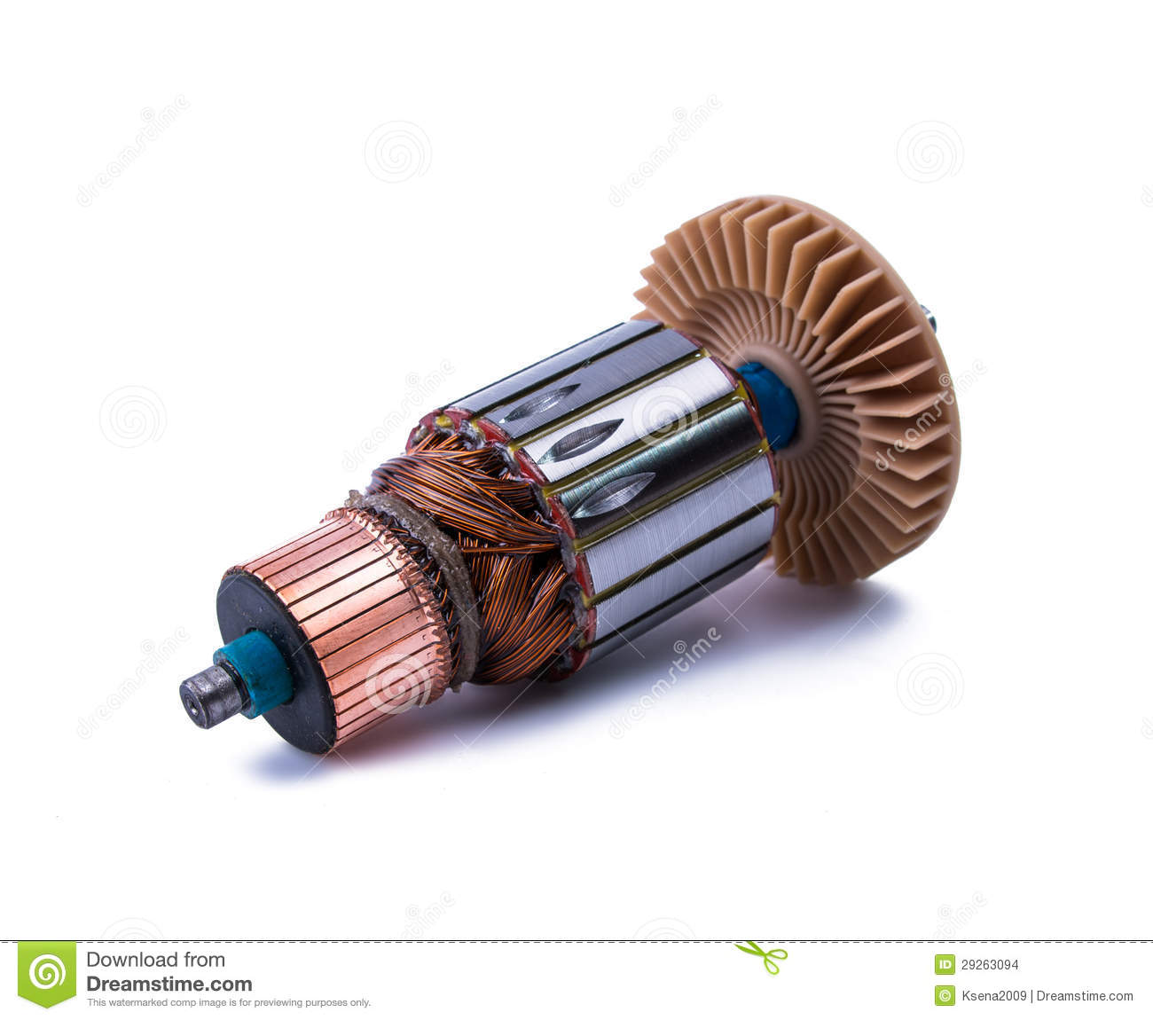 Copper Coils Inside Electric Motor Stock Images Image