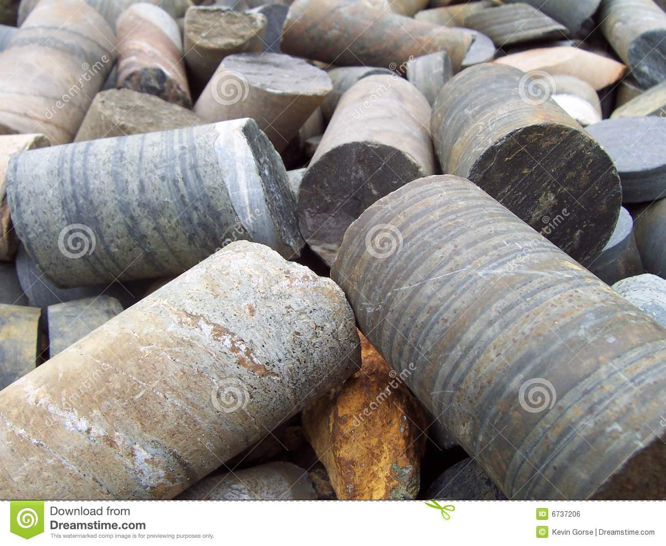 copper core samples royalty free stock image