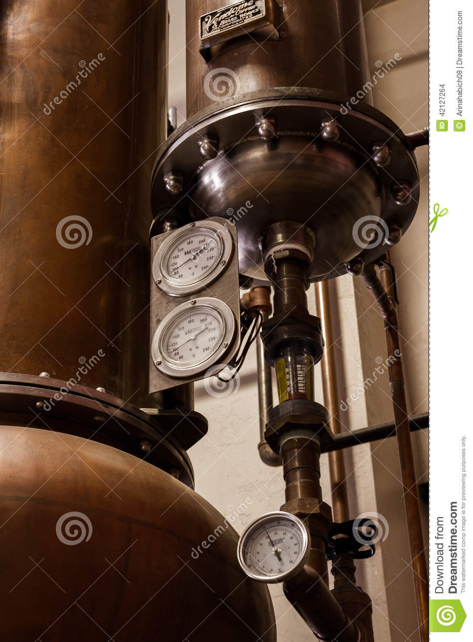 Copper Distiller editorial stock image  Image of large