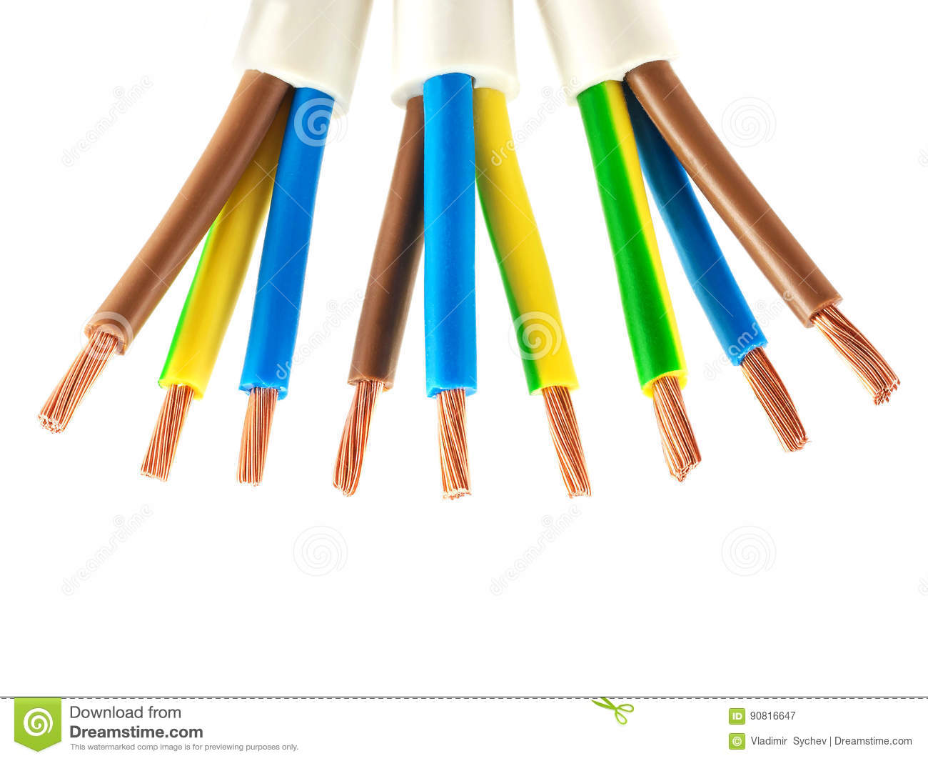 Astonishing Copper Electric Wires Stock Image Image Of Current Black 90816647 Wiring Digital Resources Inklcompassionincorg