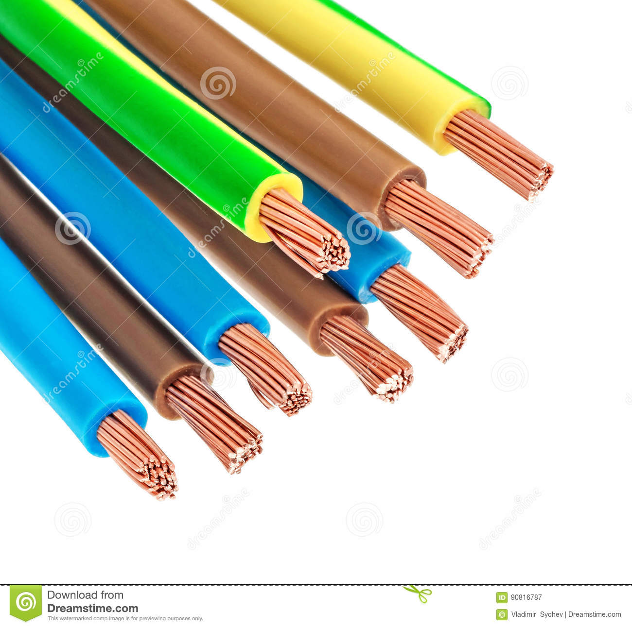 Copper electric wires stock illustration. Illustration of electrical ...