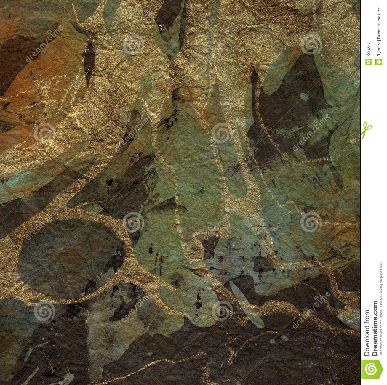 Green And Gold Marble : Copper gold green marble paper royalty free stock