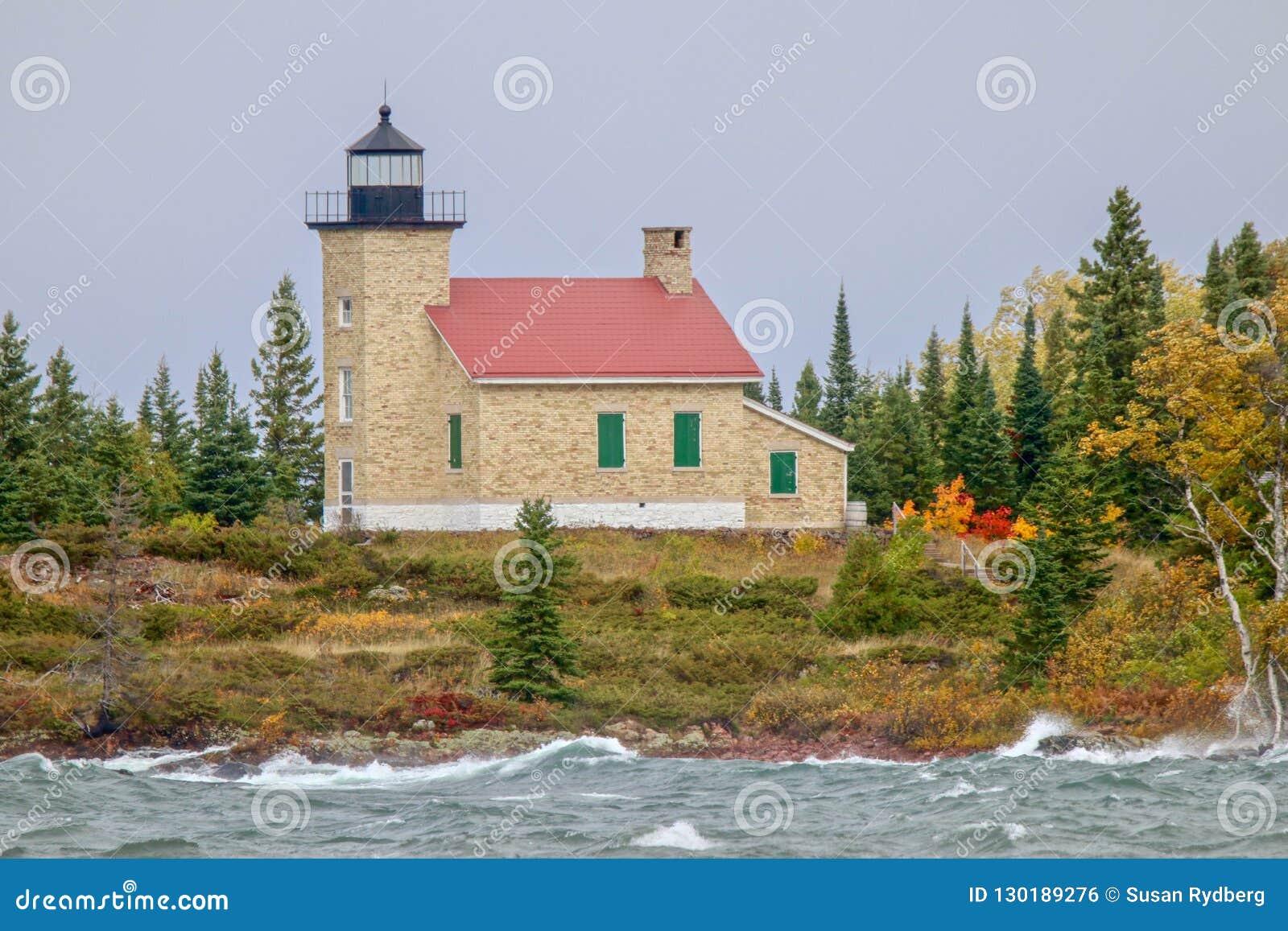 Copper Harbor Lighthouse in Upper Peninsula of Michigan