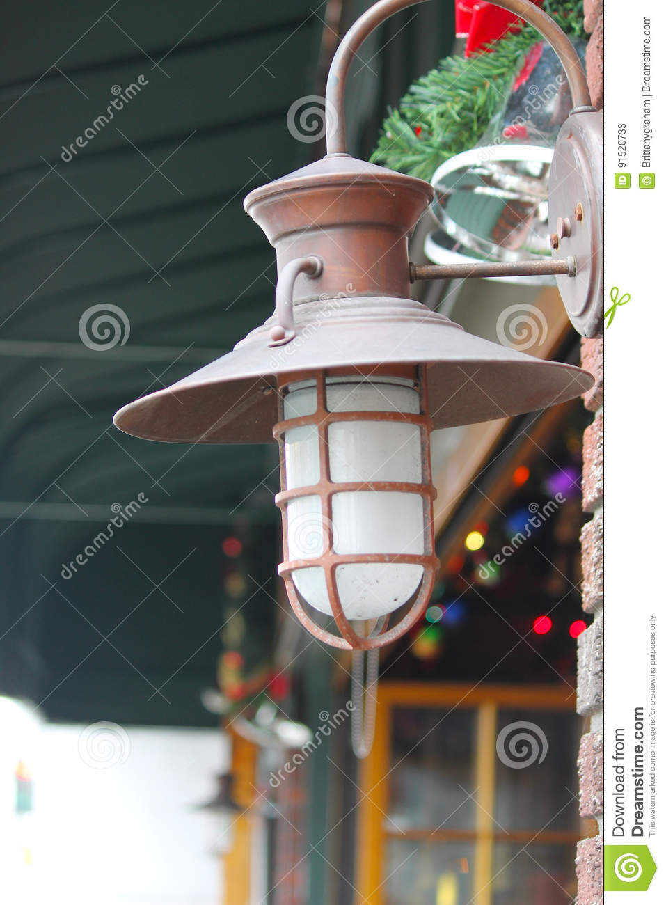 Copper Lantern Outside Storefront Download Preview