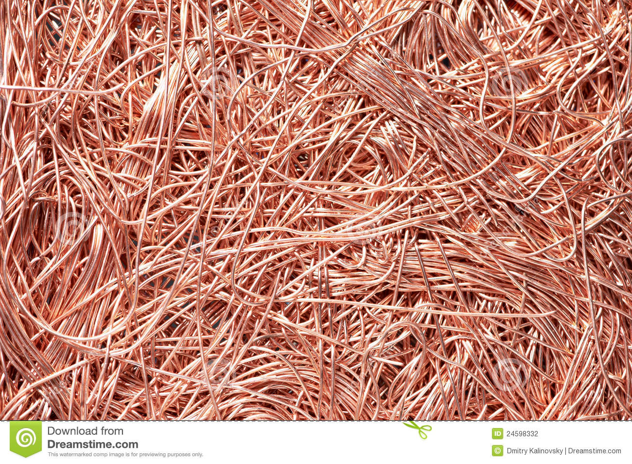 Copper Metal Scrap Materials Recycling Backround Stock Photo - Image ...