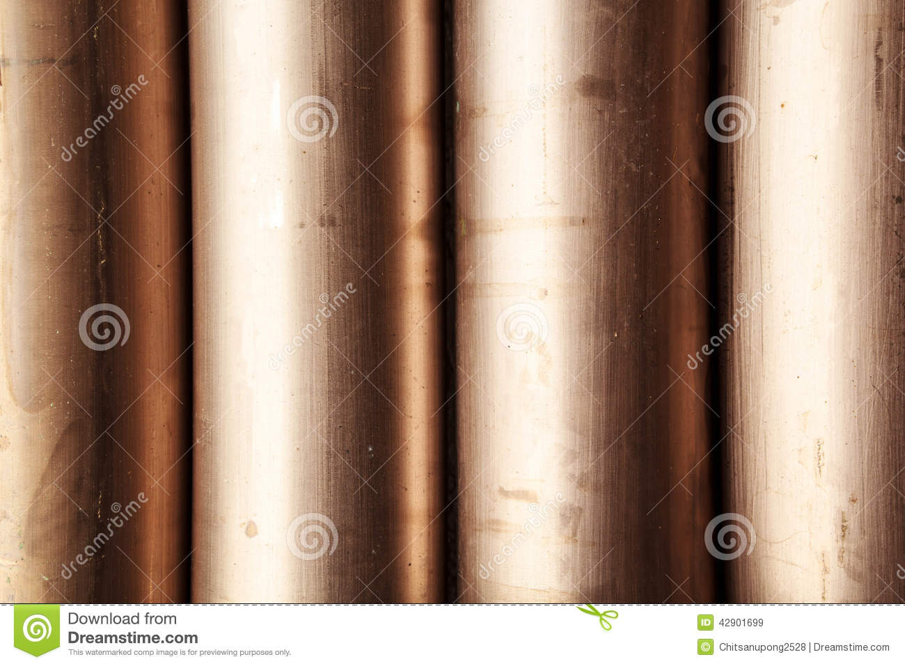 Copper nickel alloy pipe stock photo image