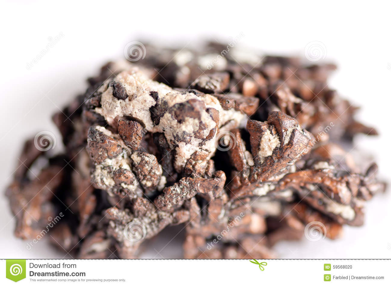 Raw Copper Ore Royalty-Free Stock Image