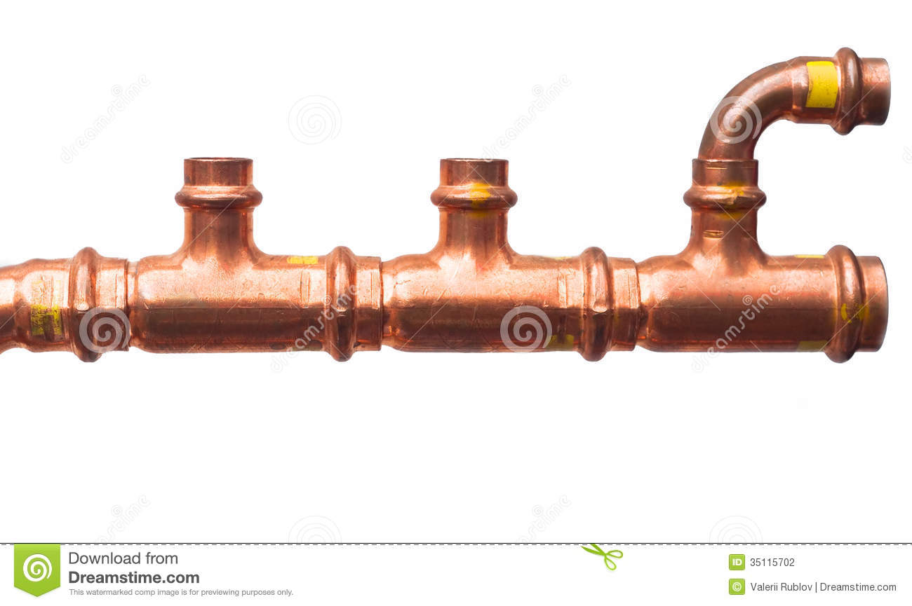 Copper pipe stock photography image 35115702 for Copper pipe cost