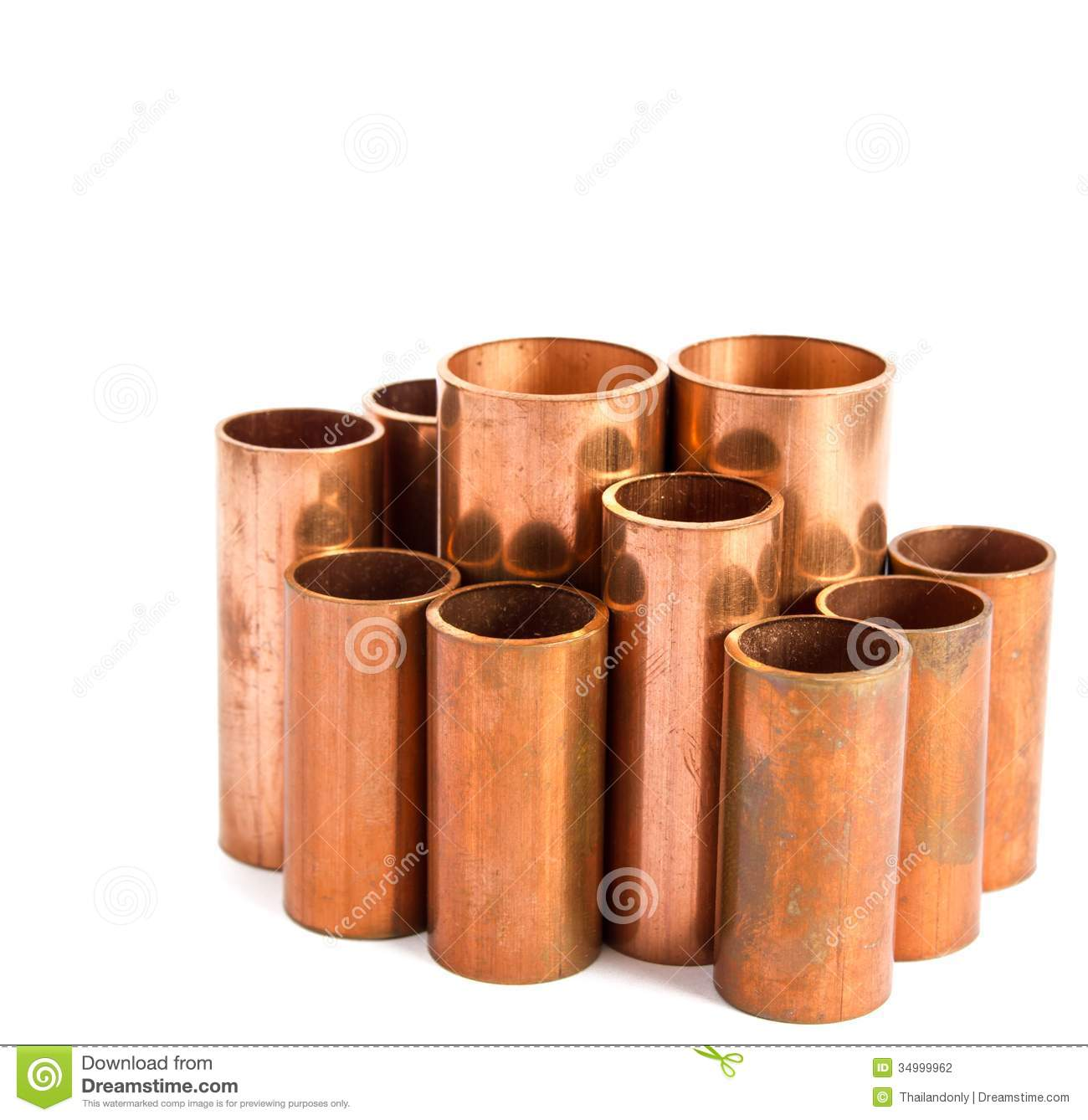 Copper pipe stock photography image 34999962 for Used copper pipe