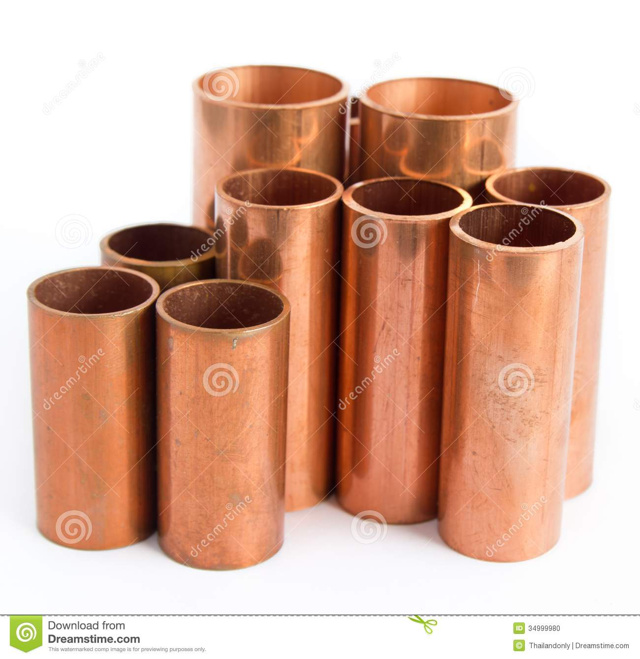 Copper pipe stock photo image of pipe pipes diameter for Used copper pipe