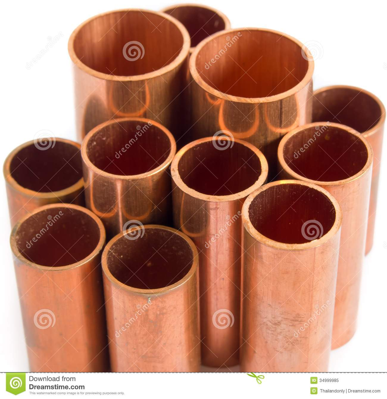 Copper pipe royalty free stock photo image 34999985 for Used copper pipe